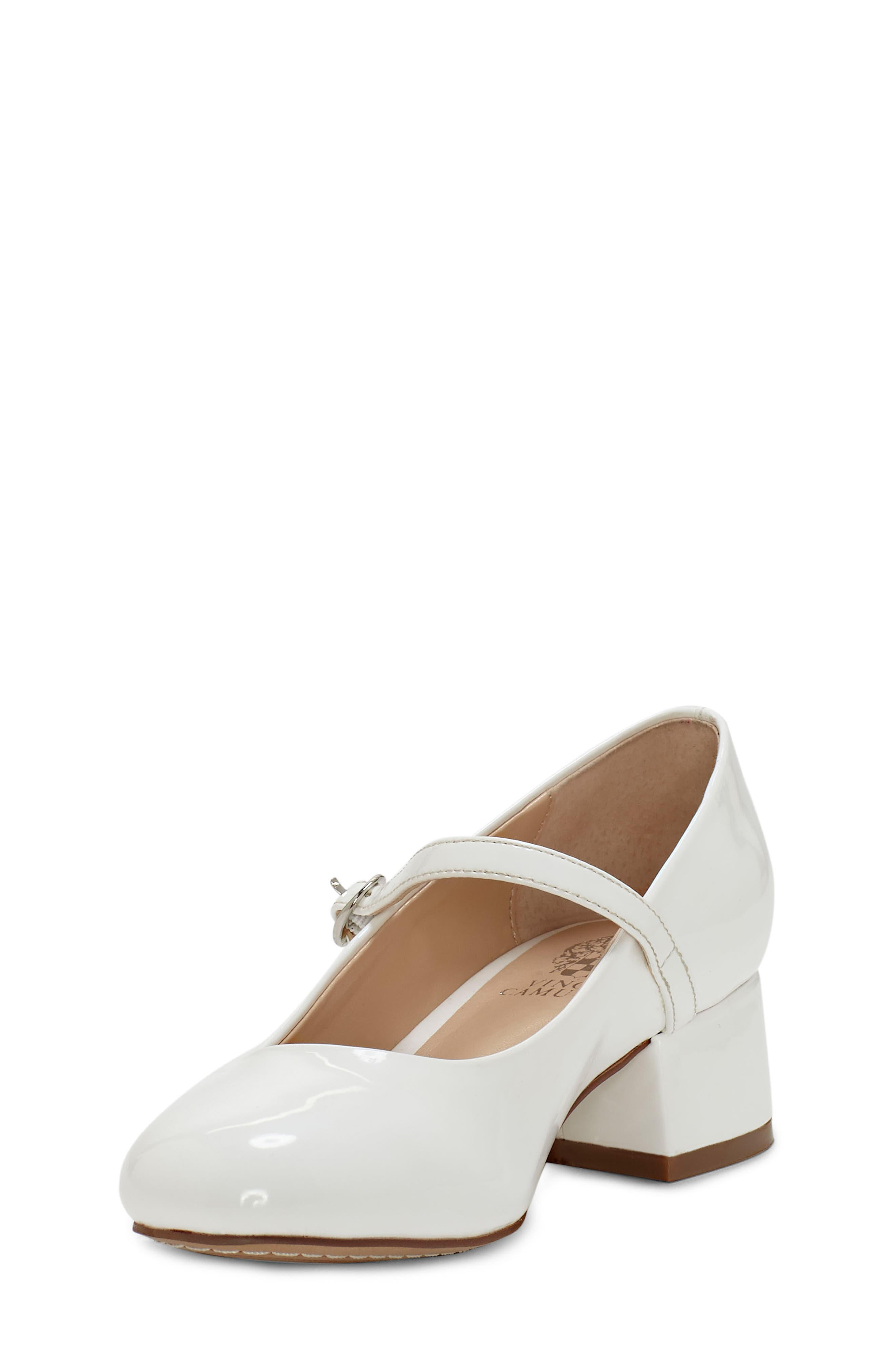 VINCE CAMUTO,                             Brenna Mary Jane Pump,                             Alternate thumbnail 5, color,                             WHITE