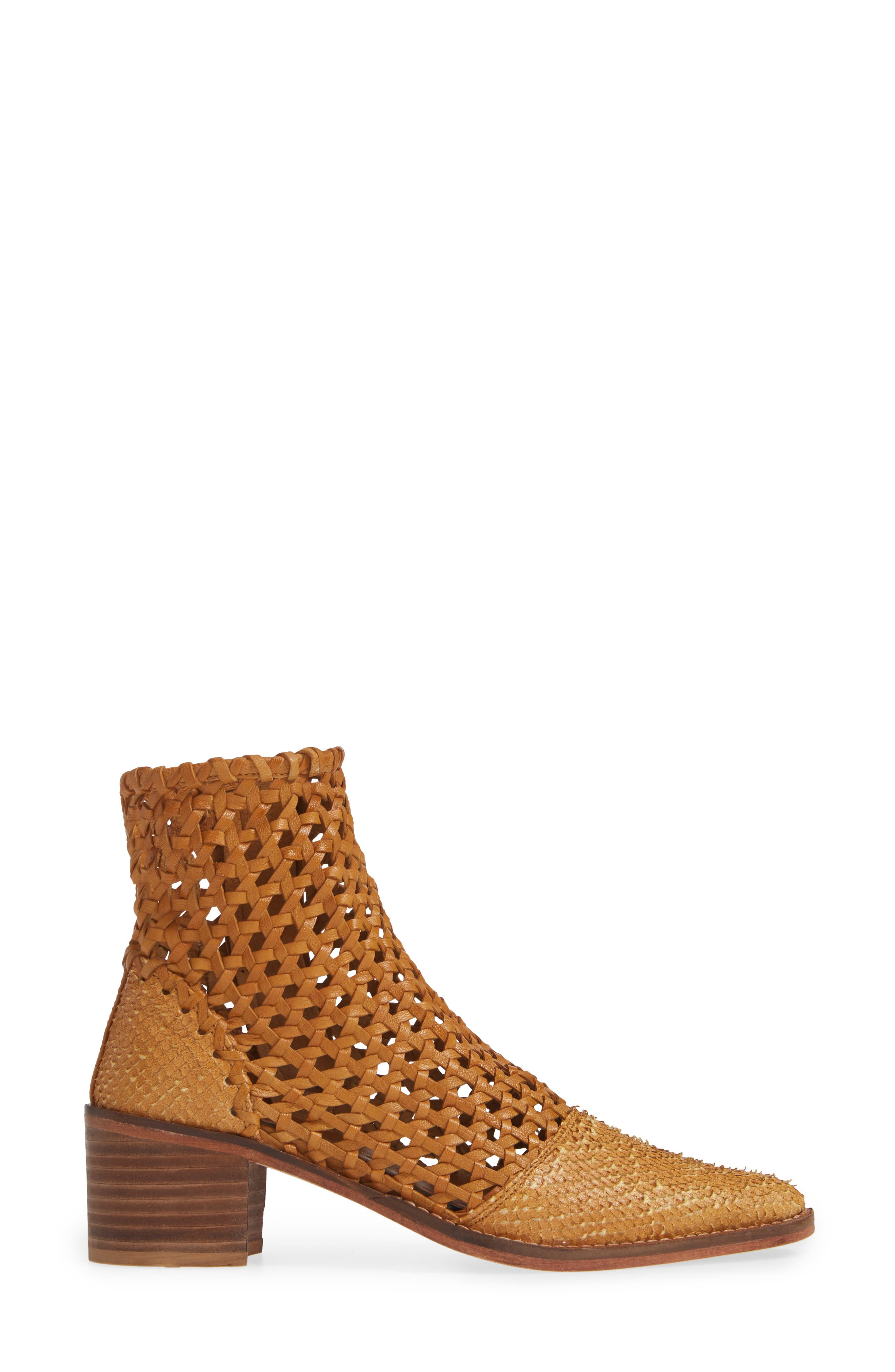 In the Loop Woven Bootie,                             Alternate thumbnail 3, color,                             TAUPE