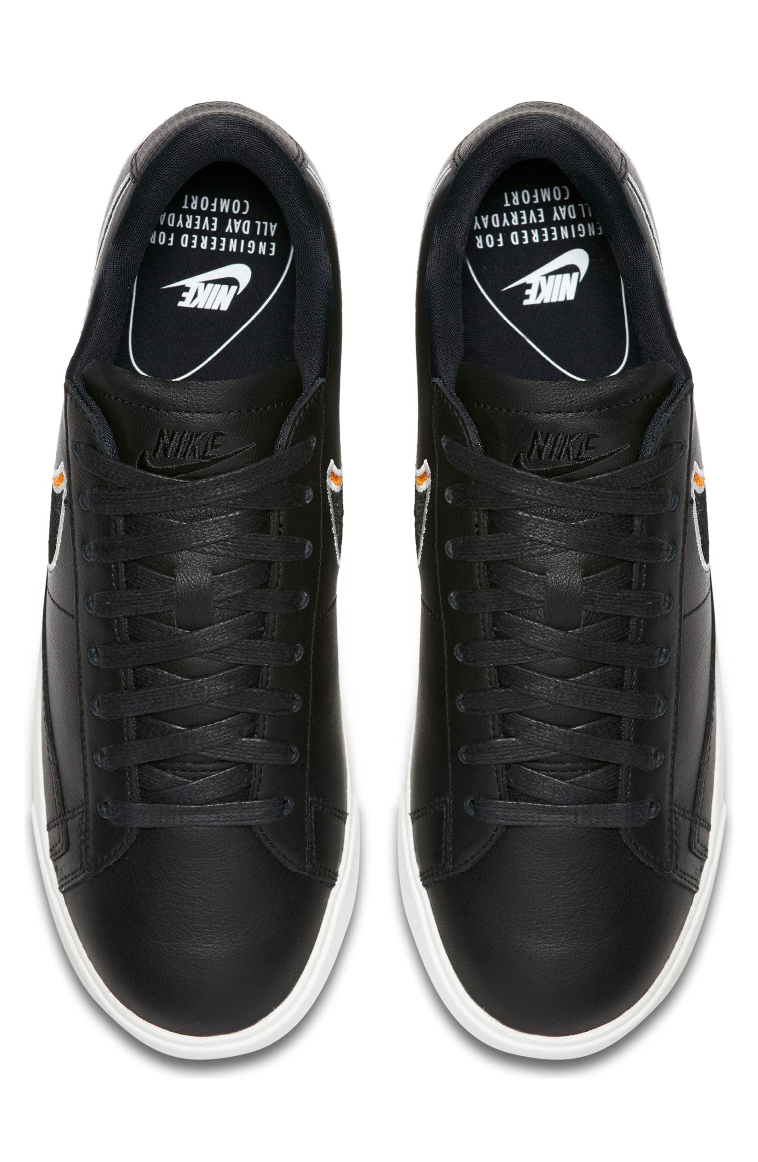Blazer Low LX Sneaker,                             Alternate thumbnail 4, color,                             BLACK/ ROYAL TINT/ MONARCH