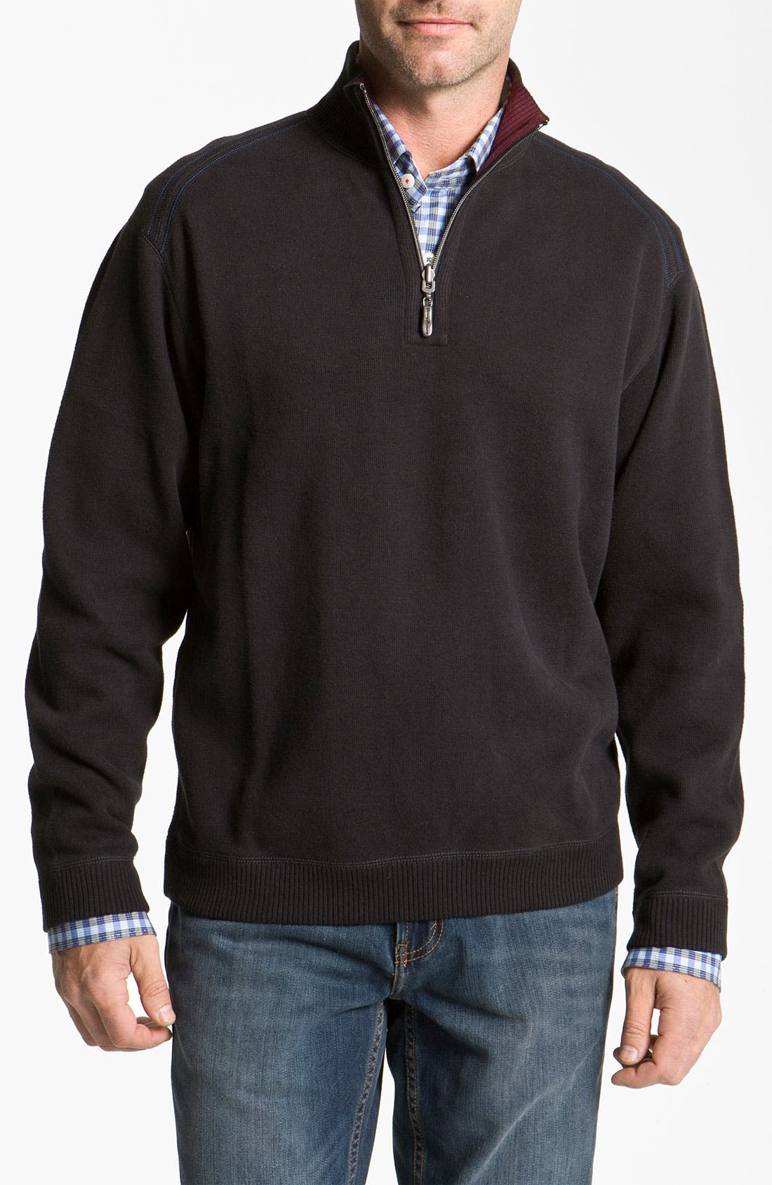 'Flip Side Pro' Reversible Half Zip Pullover,                             Main thumbnail 1, color,                             001