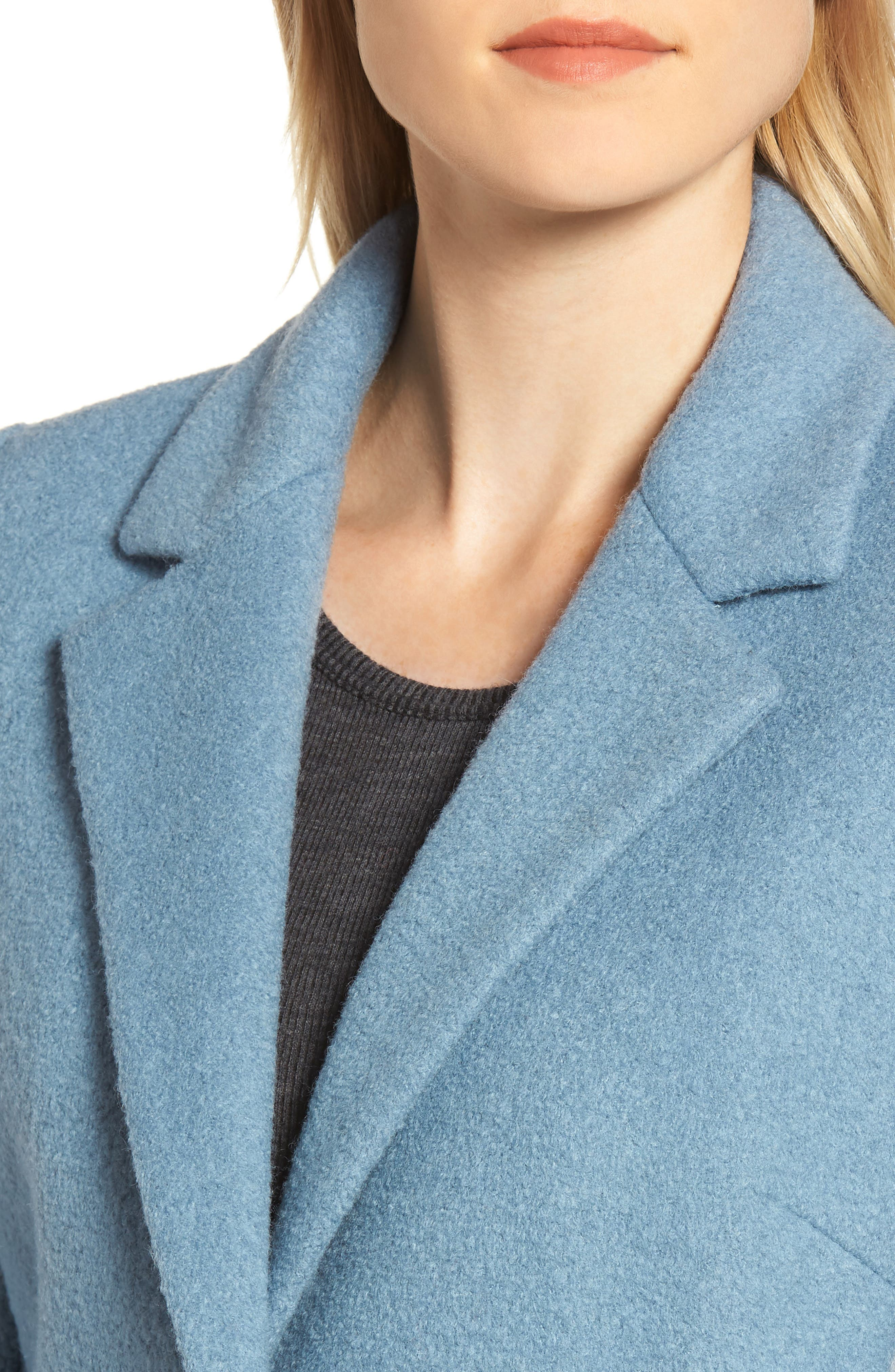 Blazer Jacket,                             Alternate thumbnail 4, color,                             LIGHT BLUE