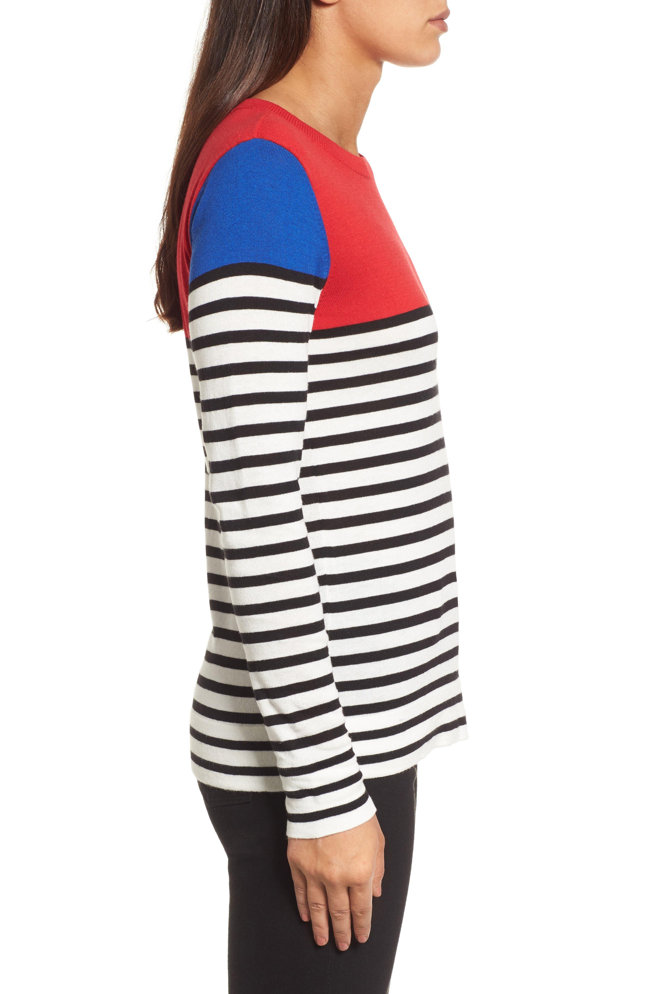 Colorblock Stripe Sweater,                             Alternate thumbnail 10, color,