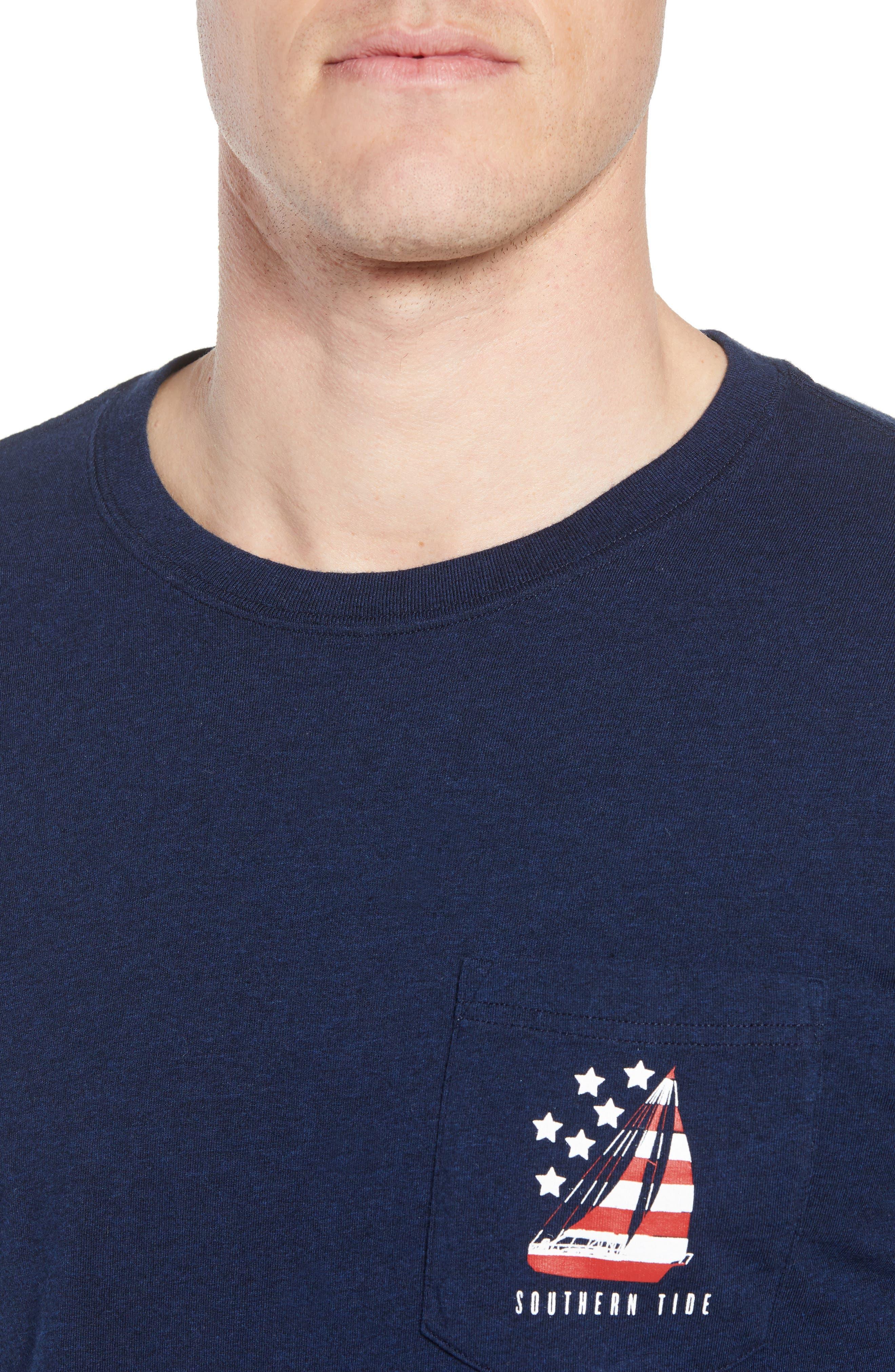 Patriotic Sail Regular Fit T-Shirt,                             Alternate thumbnail 4, color,