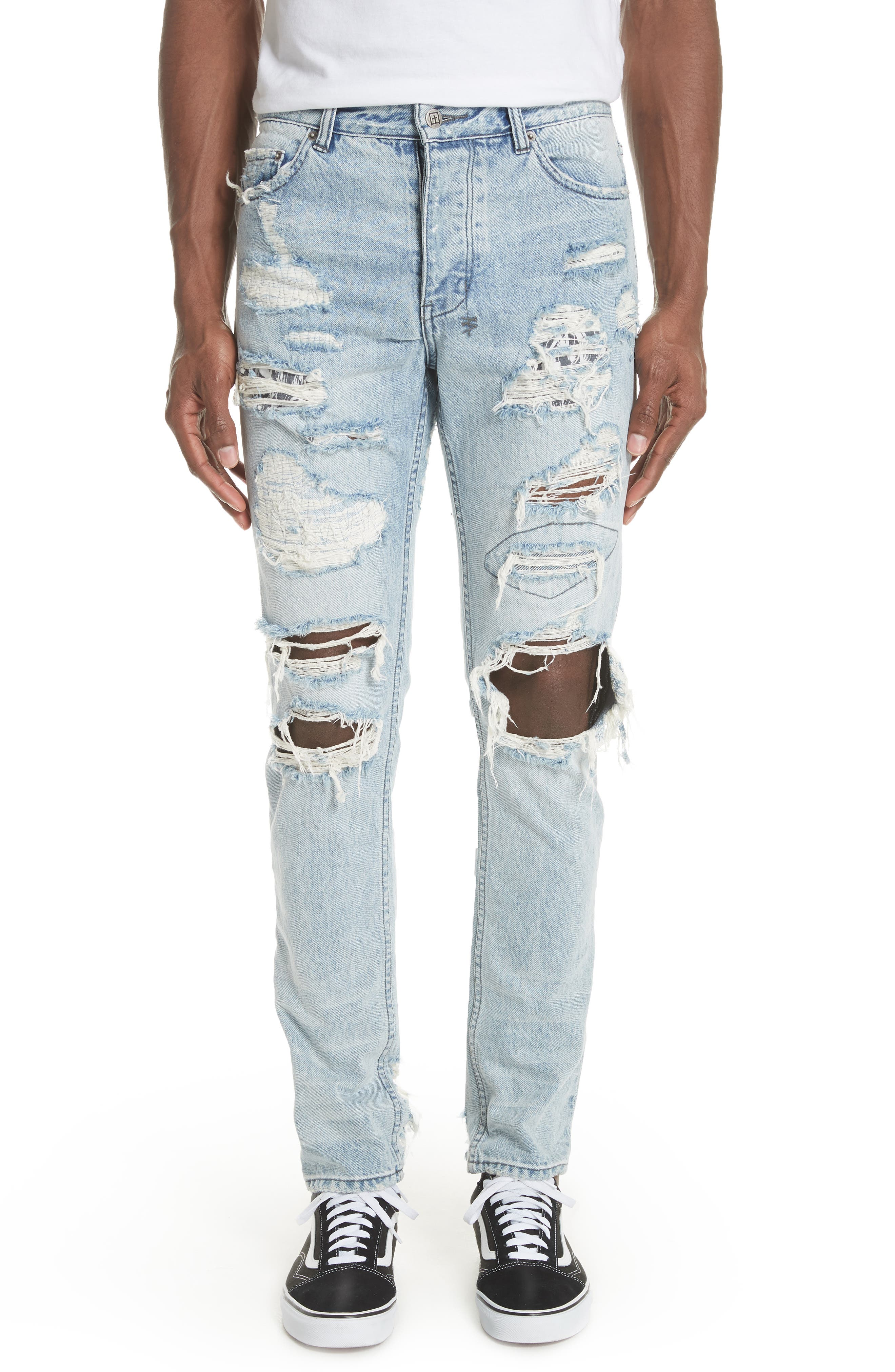 Chitch Tropo Trash Jeans,                             Main thumbnail 1, color,                             DENIM