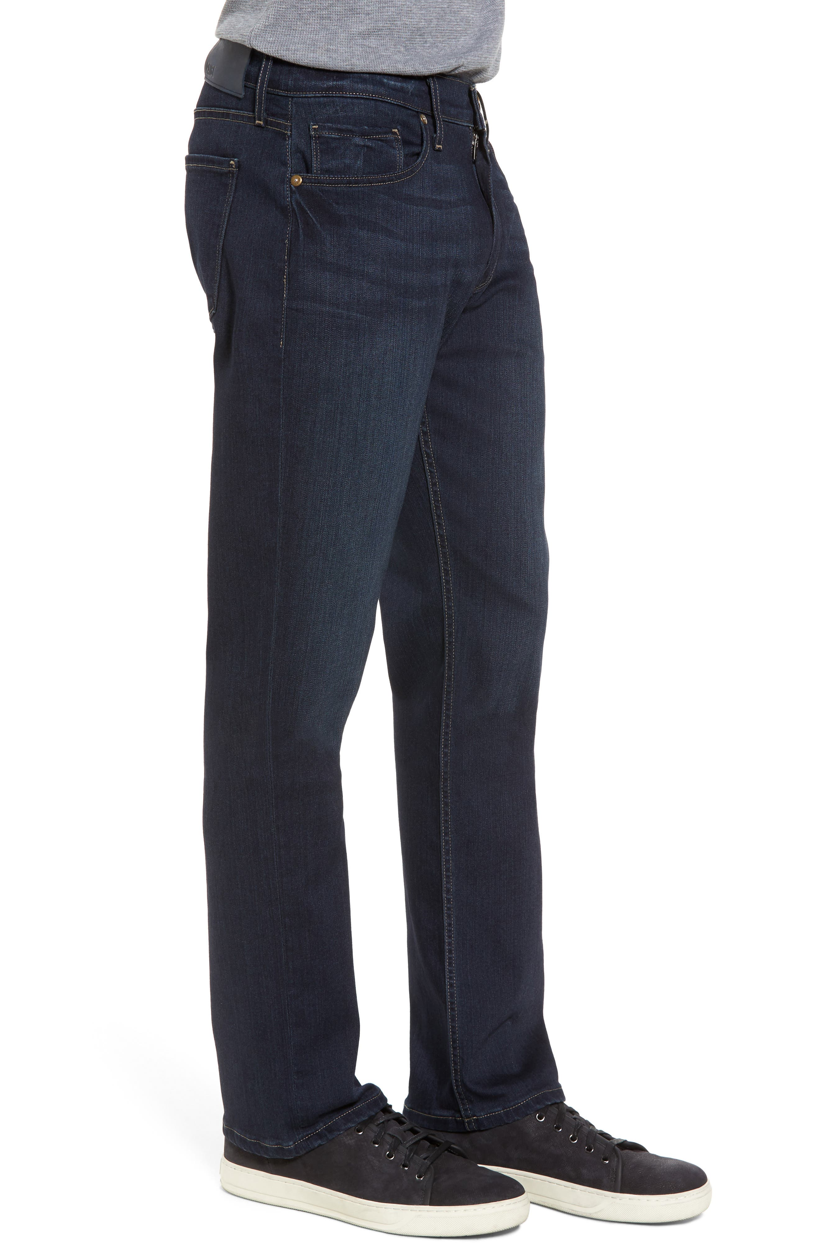 Transcend - Normandie Straight Fit Jeans,                             Alternate thumbnail 3, color,                             400