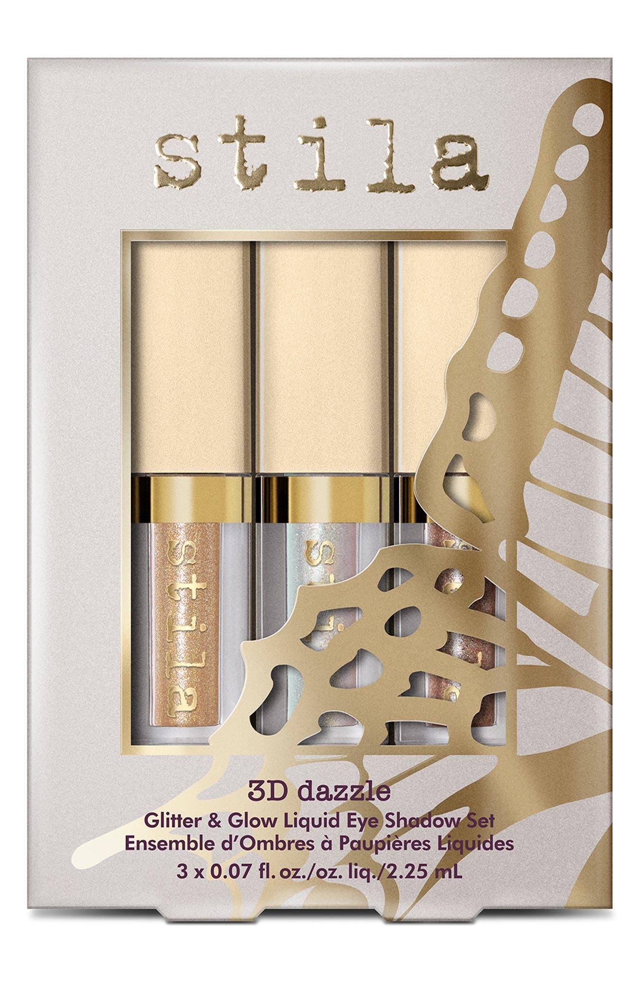 STILA,                             3D Dazzle Glitter & Glow Liquid Eyeshadow Set,                             Alternate thumbnail 2, color,                             000