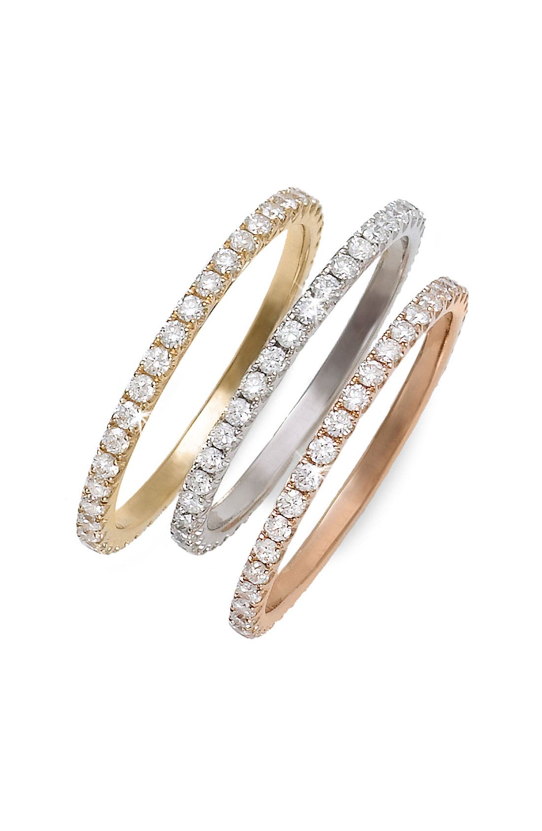 Diamond Stackable Ring,                             Alternate thumbnail 4, color,                             WHITE GOLD