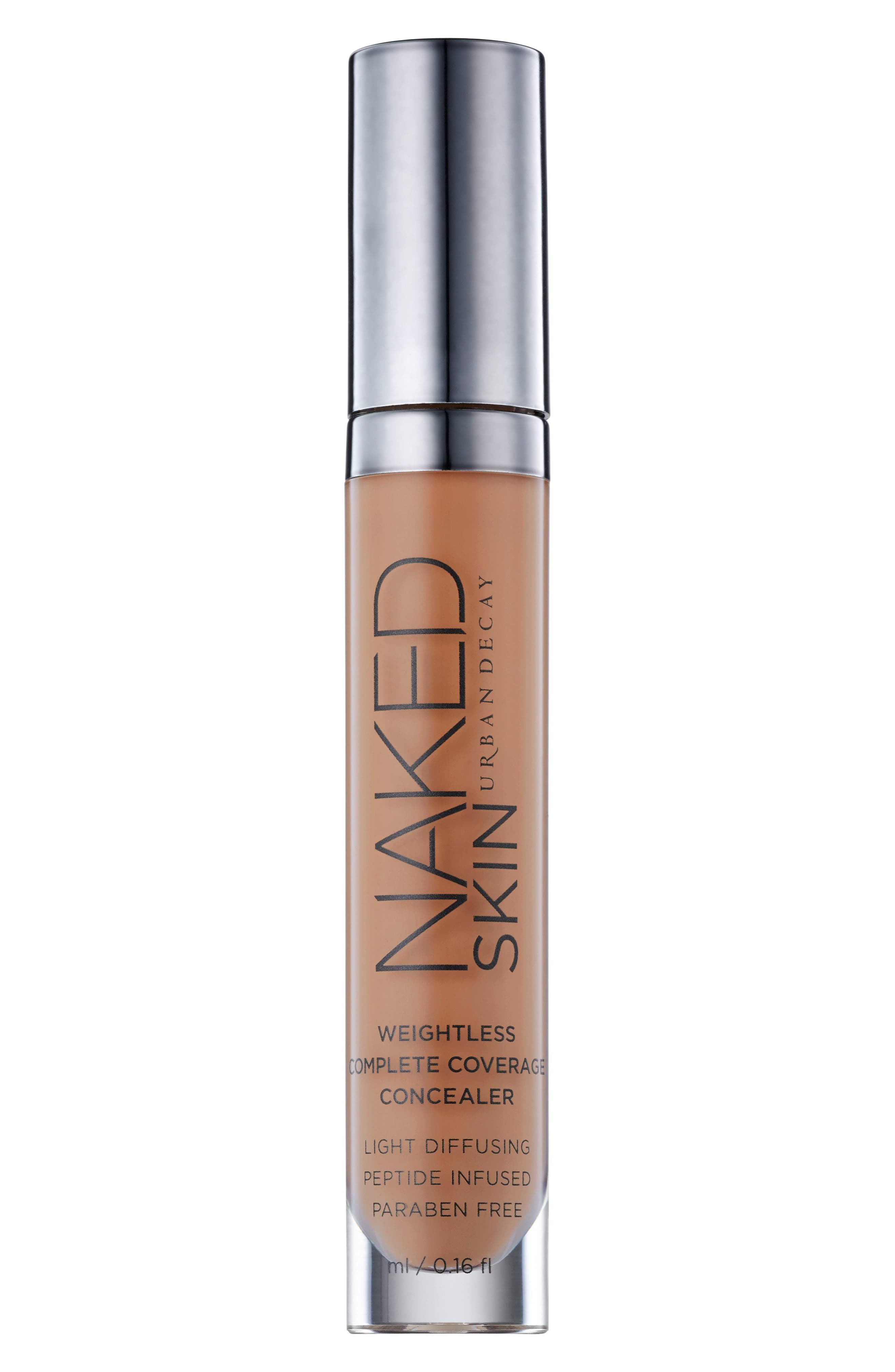 URBAN DECAY,                             Naked Skin Weightless Complete Coverage Concealer,                             Main thumbnail 1, color,                             DARK GOLDEN