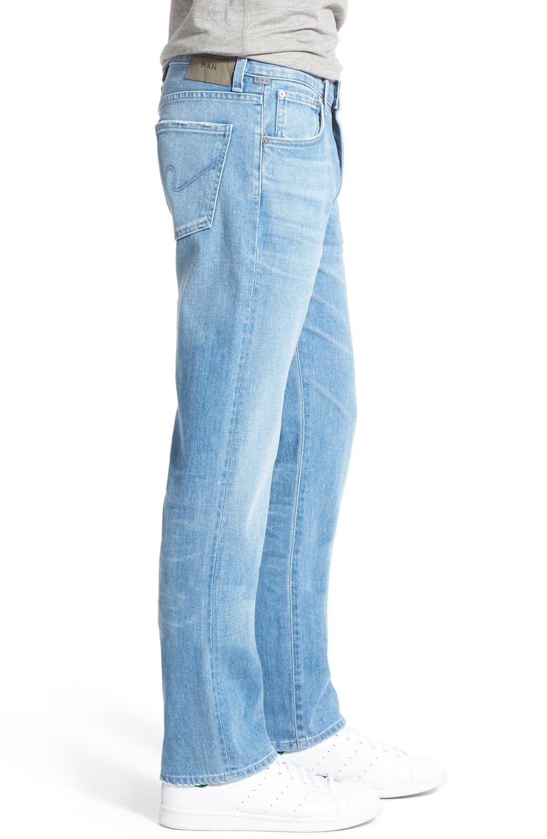 'Sid' Straight Leg Jeans,                             Alternate thumbnail 4, color,                             465