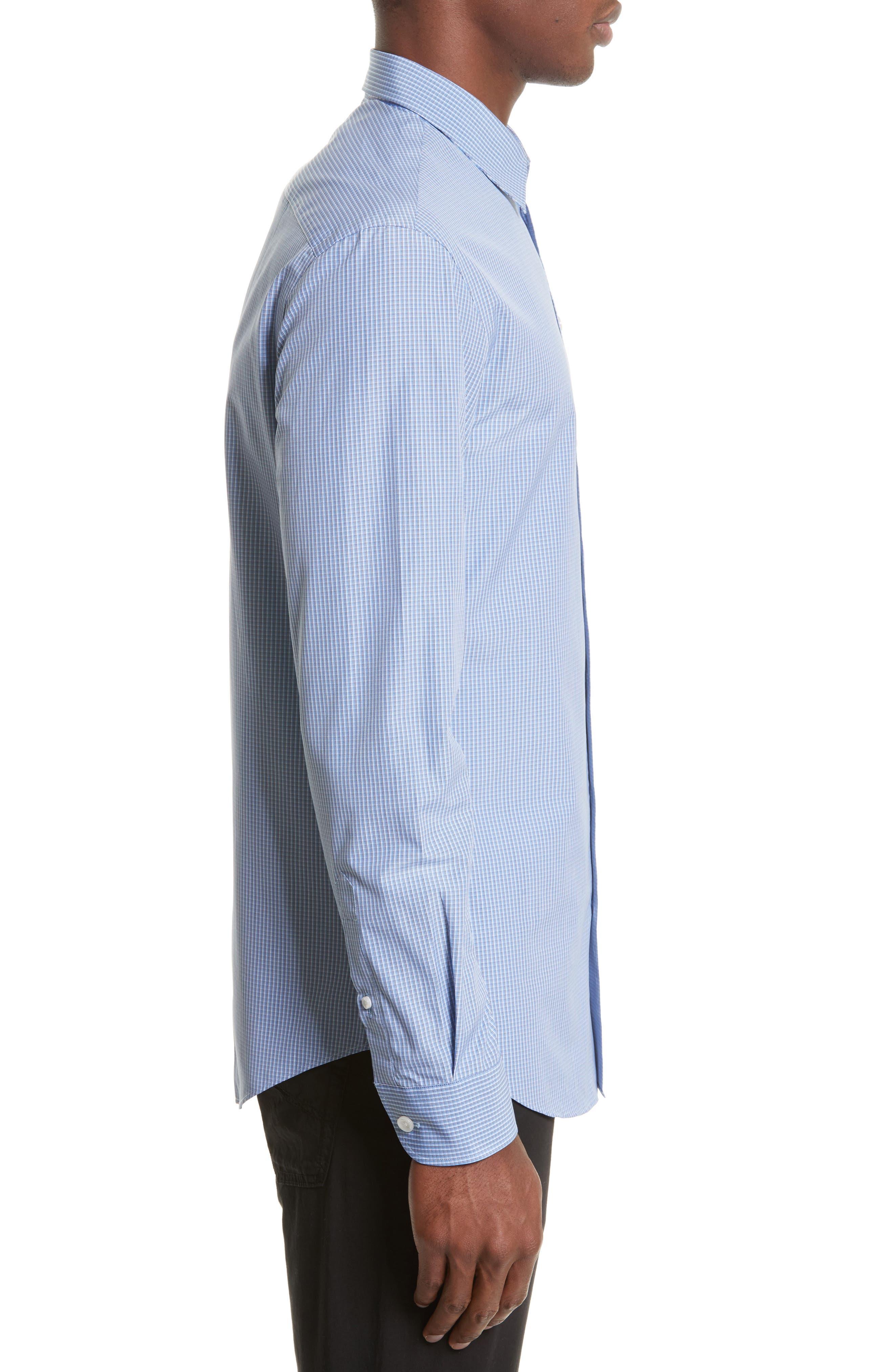 ARMANI COLLEZIONI,                             Micro Check Sport Shirt,                             Alternate thumbnail 3, color,                             482