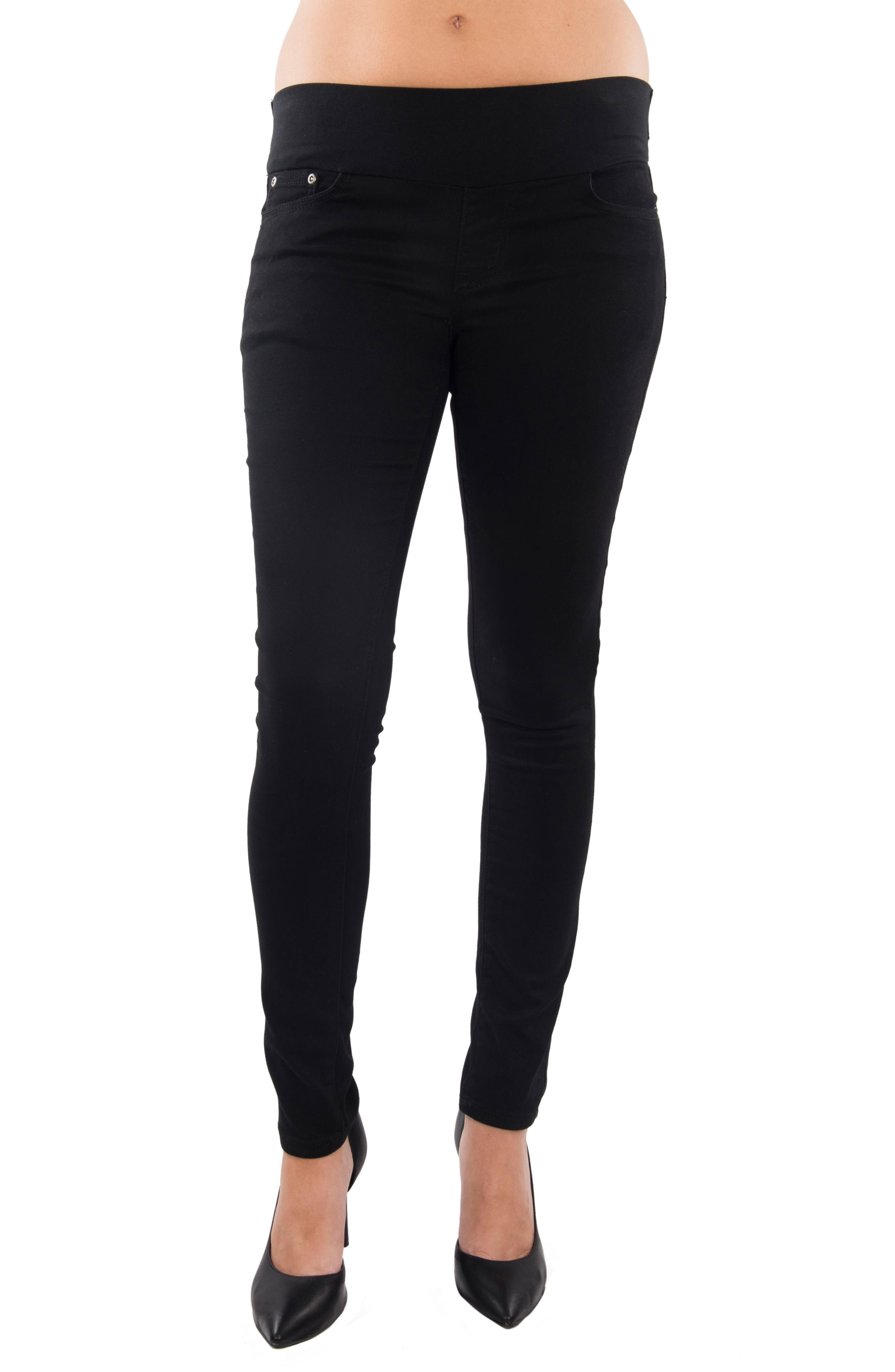 Aria Maternity Skinny Jeans,                         Main,                         color, BLACK