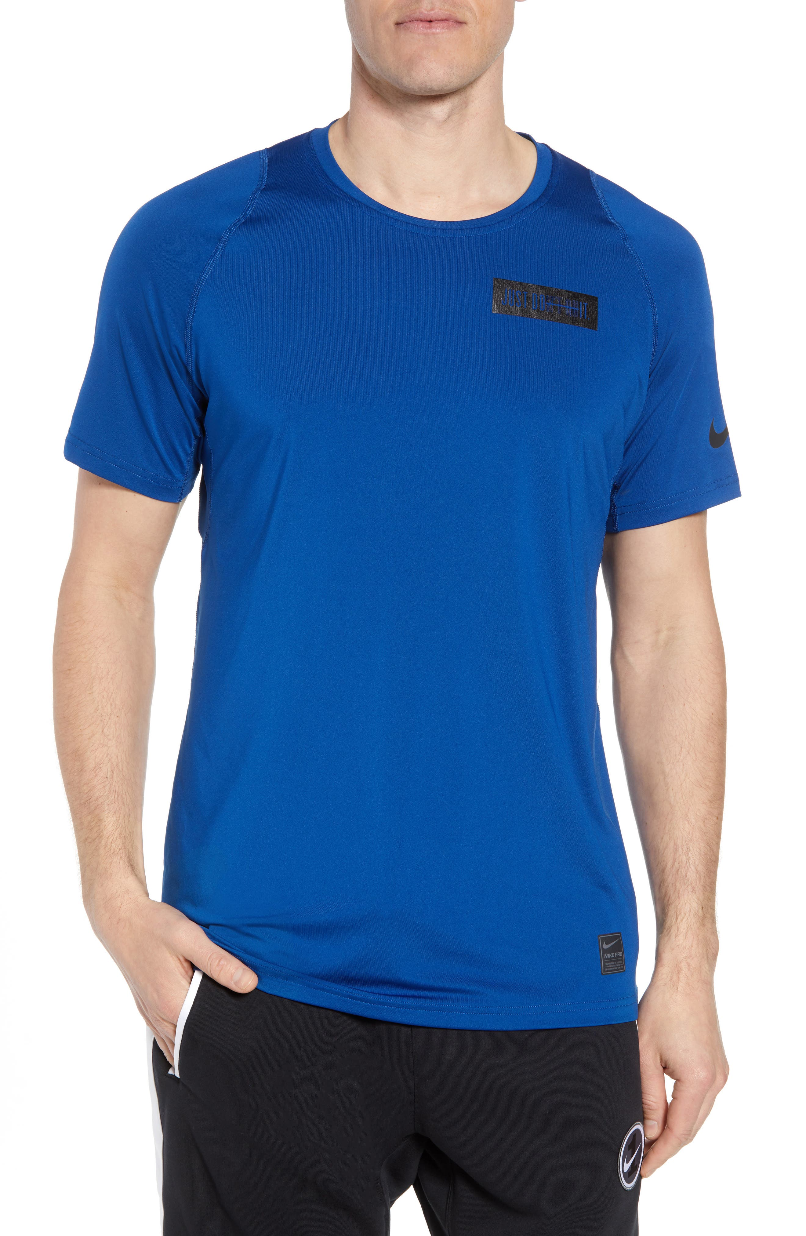 Nike Pro Jdi Logo Dry T-Shirt, Blue