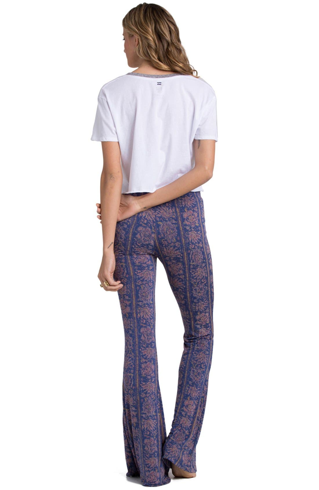 'Summer Crush' Print Flare Pants,                             Alternate thumbnail 2, color,                             400