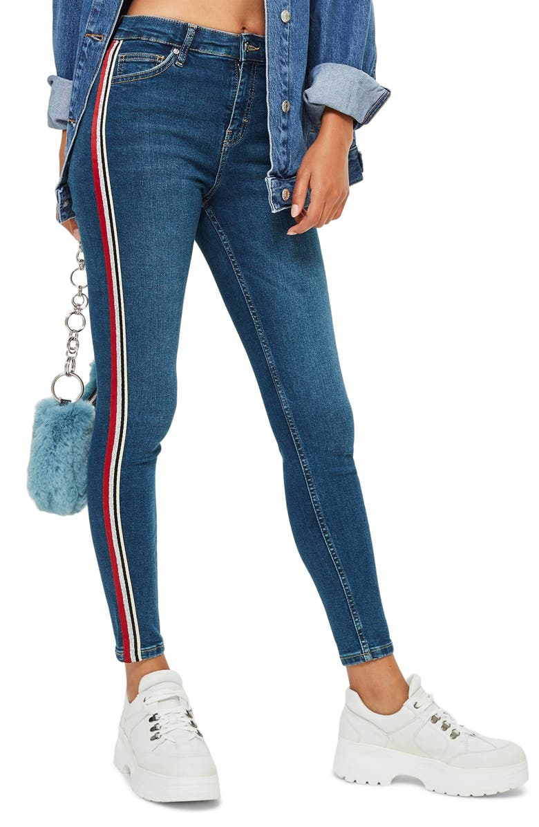 MOTO Jamie Side Stripe Jeans