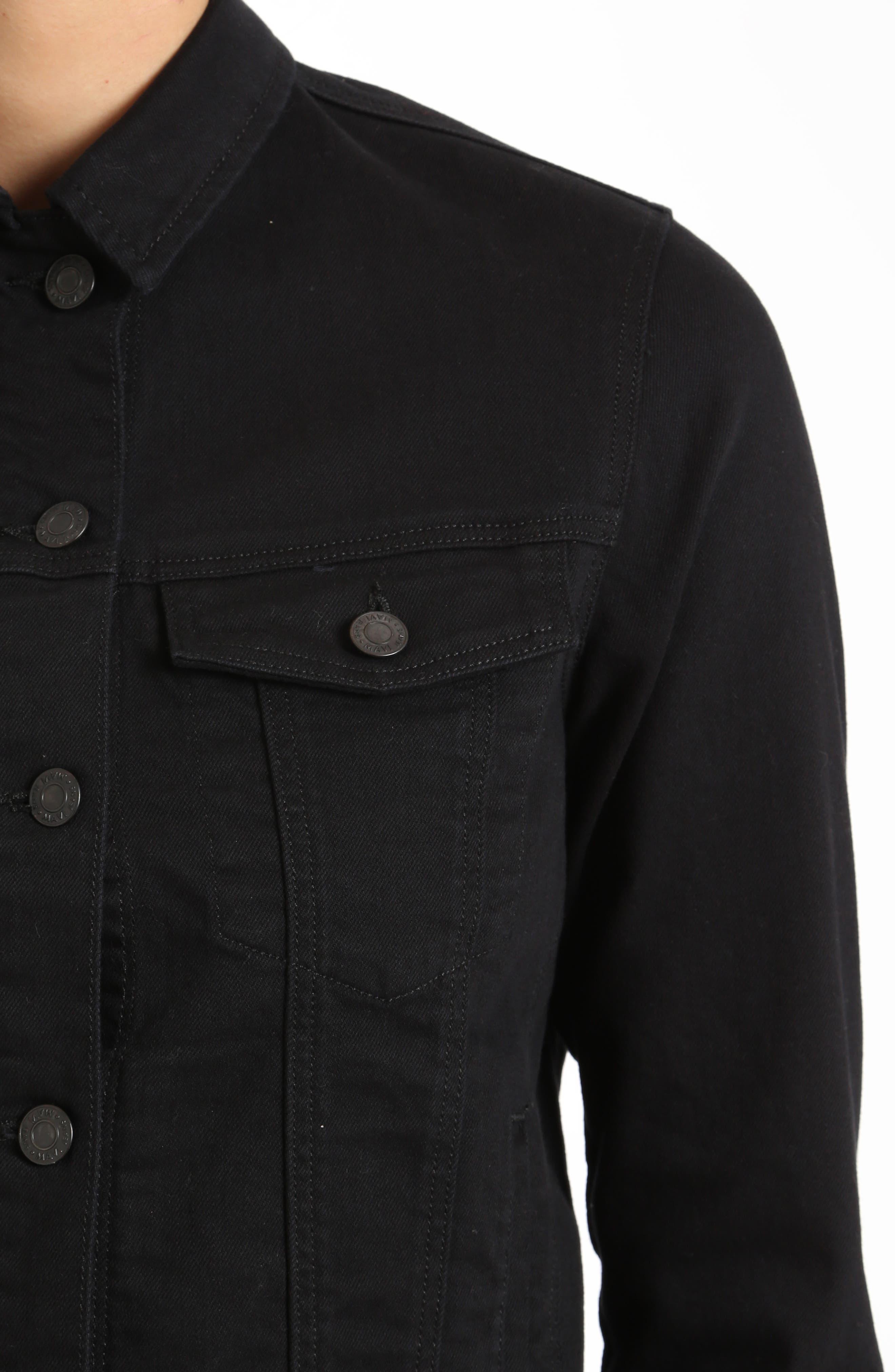 Katy Black Comfort Jacket,                             Alternate thumbnail 3, color,                             001