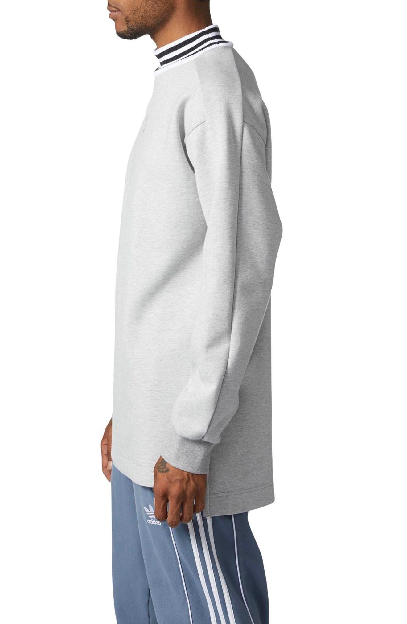 ADIDAS ORIGINALS,                             Mock Neck Sweatshirt,                             Alternate thumbnail 3, color,                             035