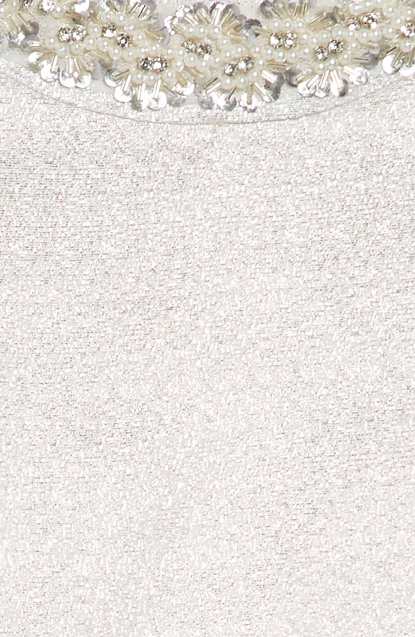 Embellished Fit & Flare Dress,                             Alternate thumbnail 3, color,                             040