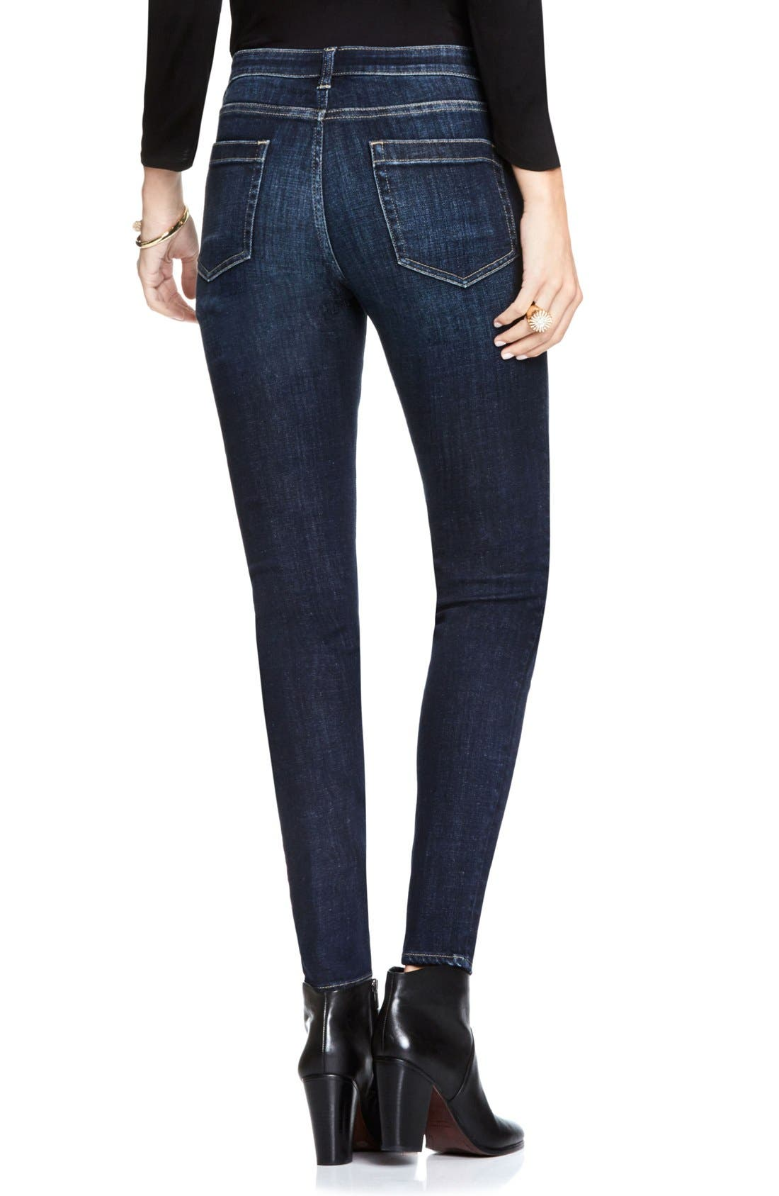 Stretch Skinny Jeans,                             Alternate thumbnail 3, color,                             DARK AUTHENTIC