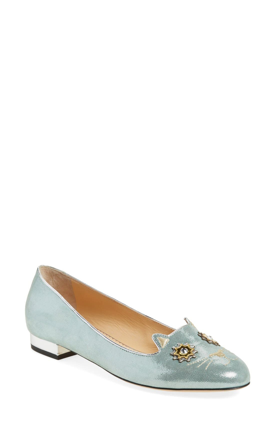 CHARLOTTE OLYMPIA 'Mechanical Kitty' Flat, Main, color, 401