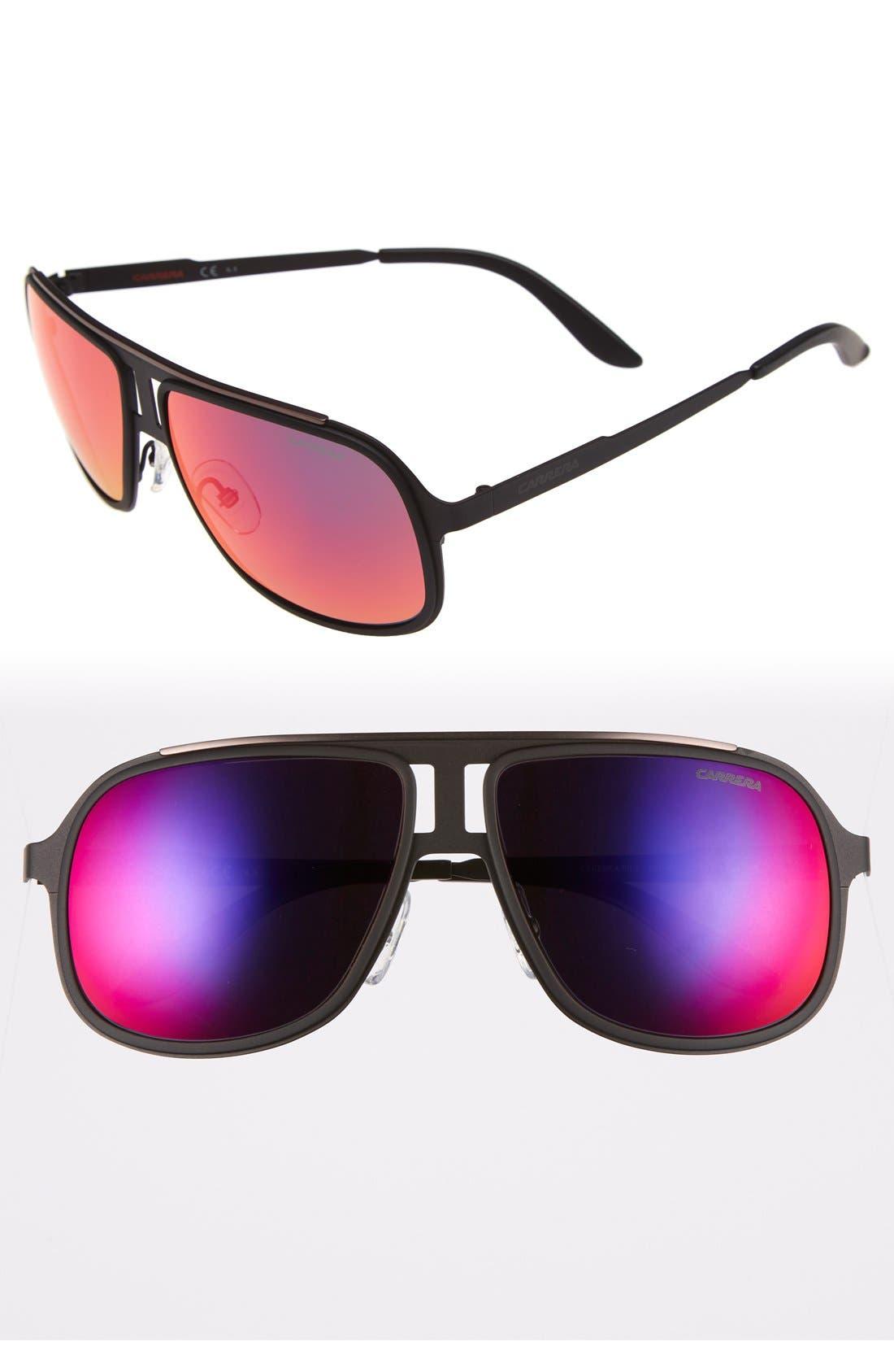 59mm Aviator Sunglasses,                             Main thumbnail 1, color,                             002
