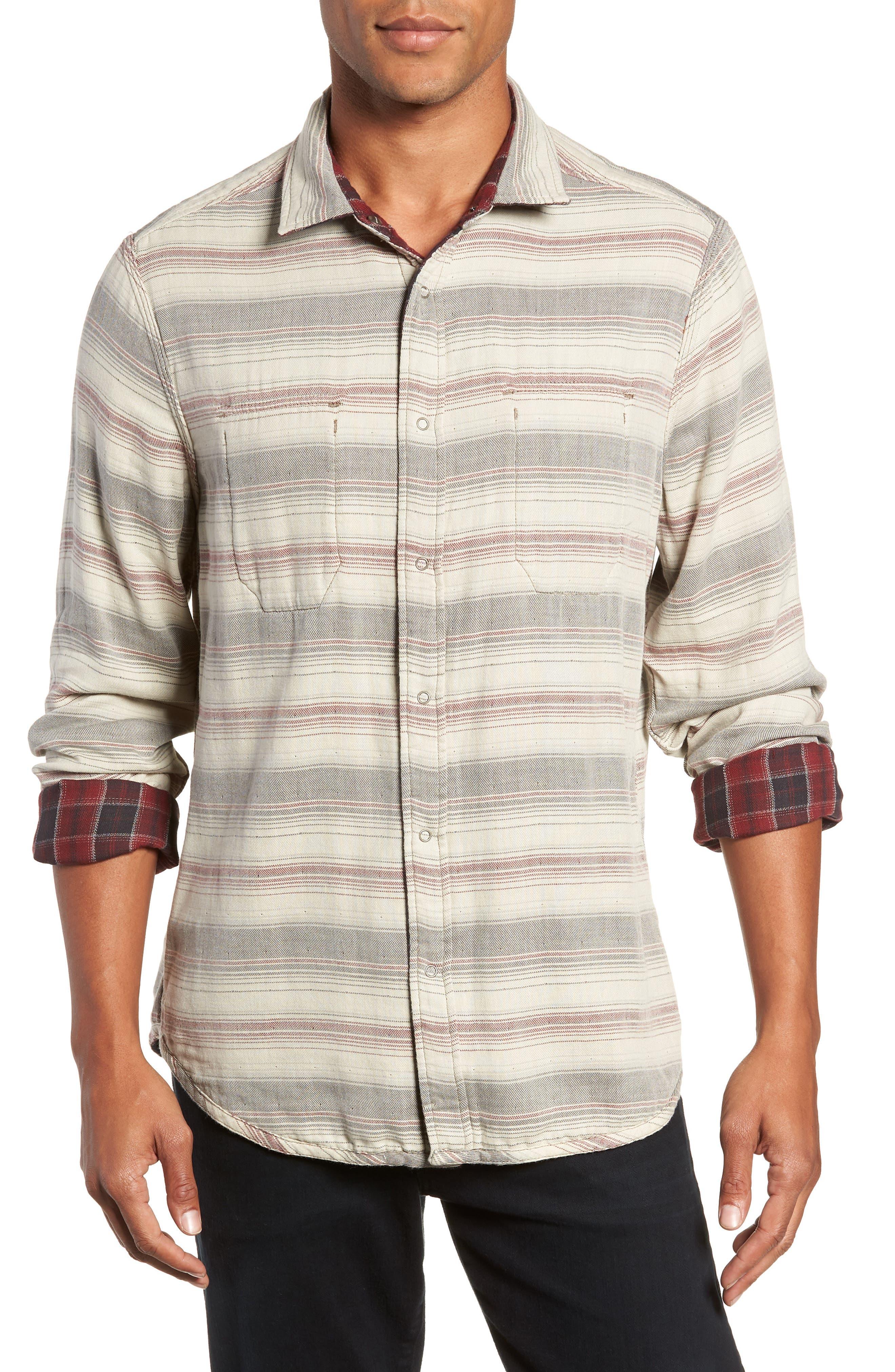 Boulder Regular Fit Reversible Plaid Shirt,                             Alternate thumbnail 2, color,                             OXBLOOD