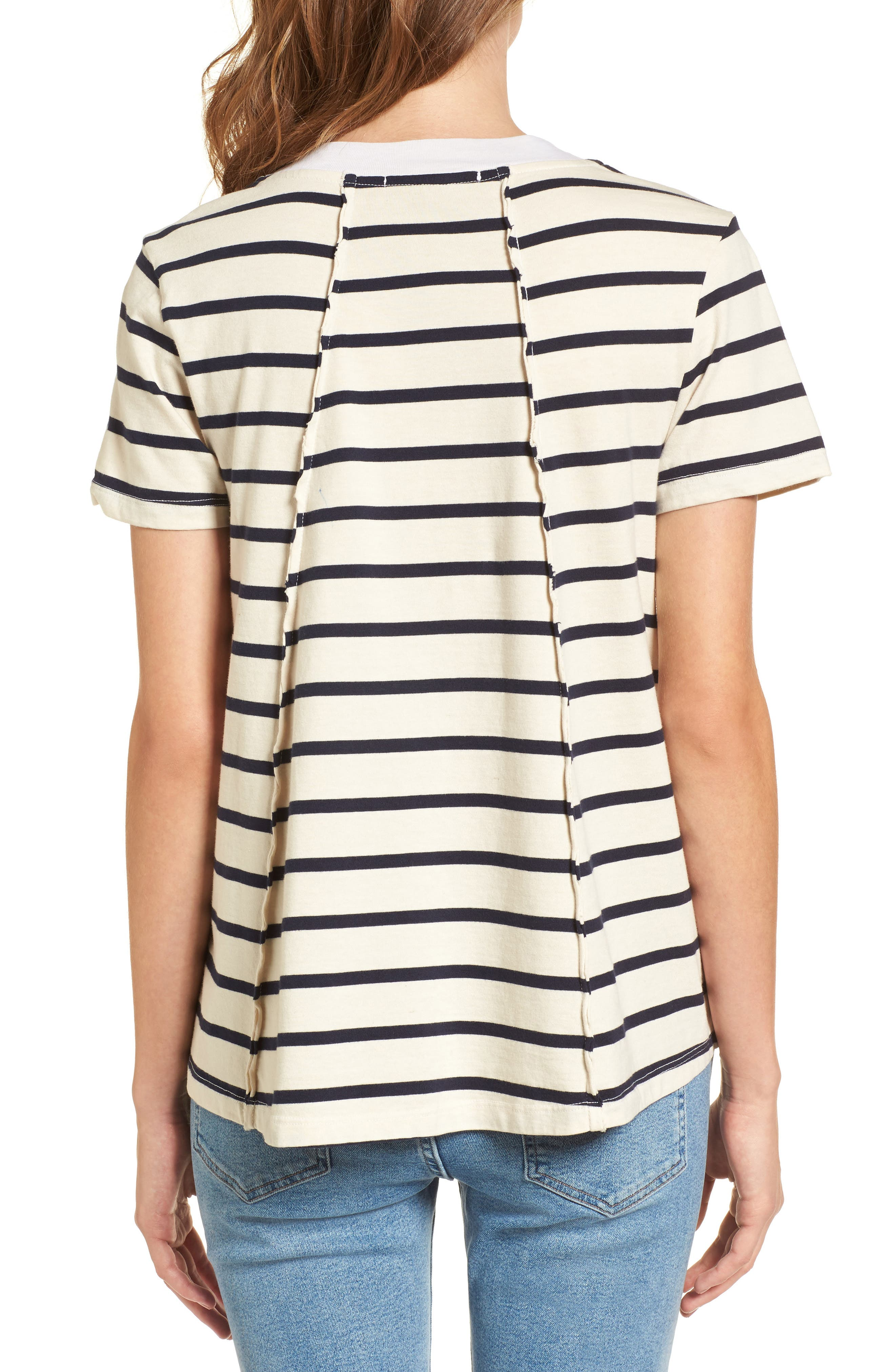 Stripe Swing Tee,                             Alternate thumbnail 2, color,                             900