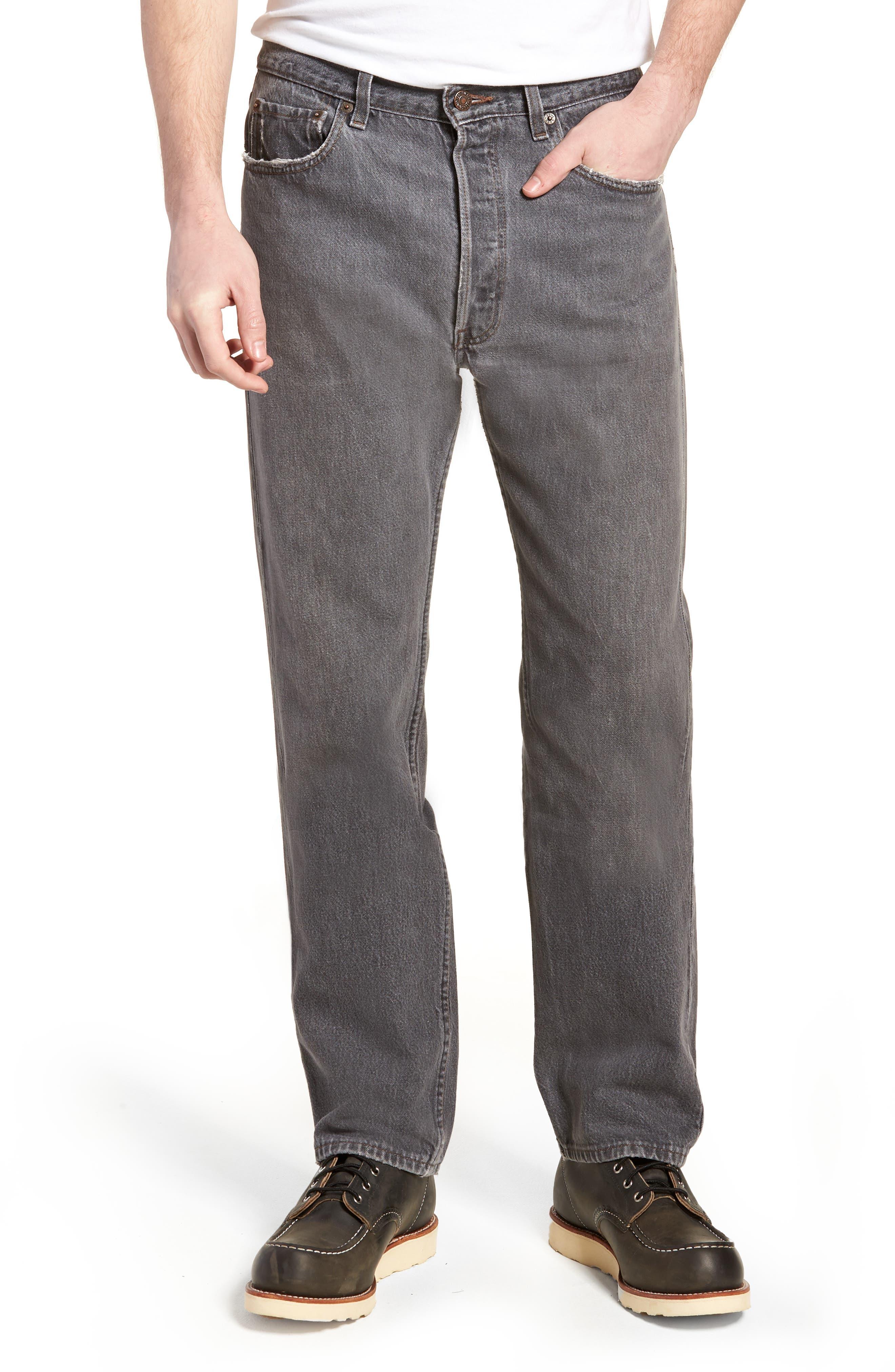 LEVI'S<SUP>®</SUP> Authorized Vintage 501<sup>™</sup> Original Fit Jeans, Main, color, AV BLACK