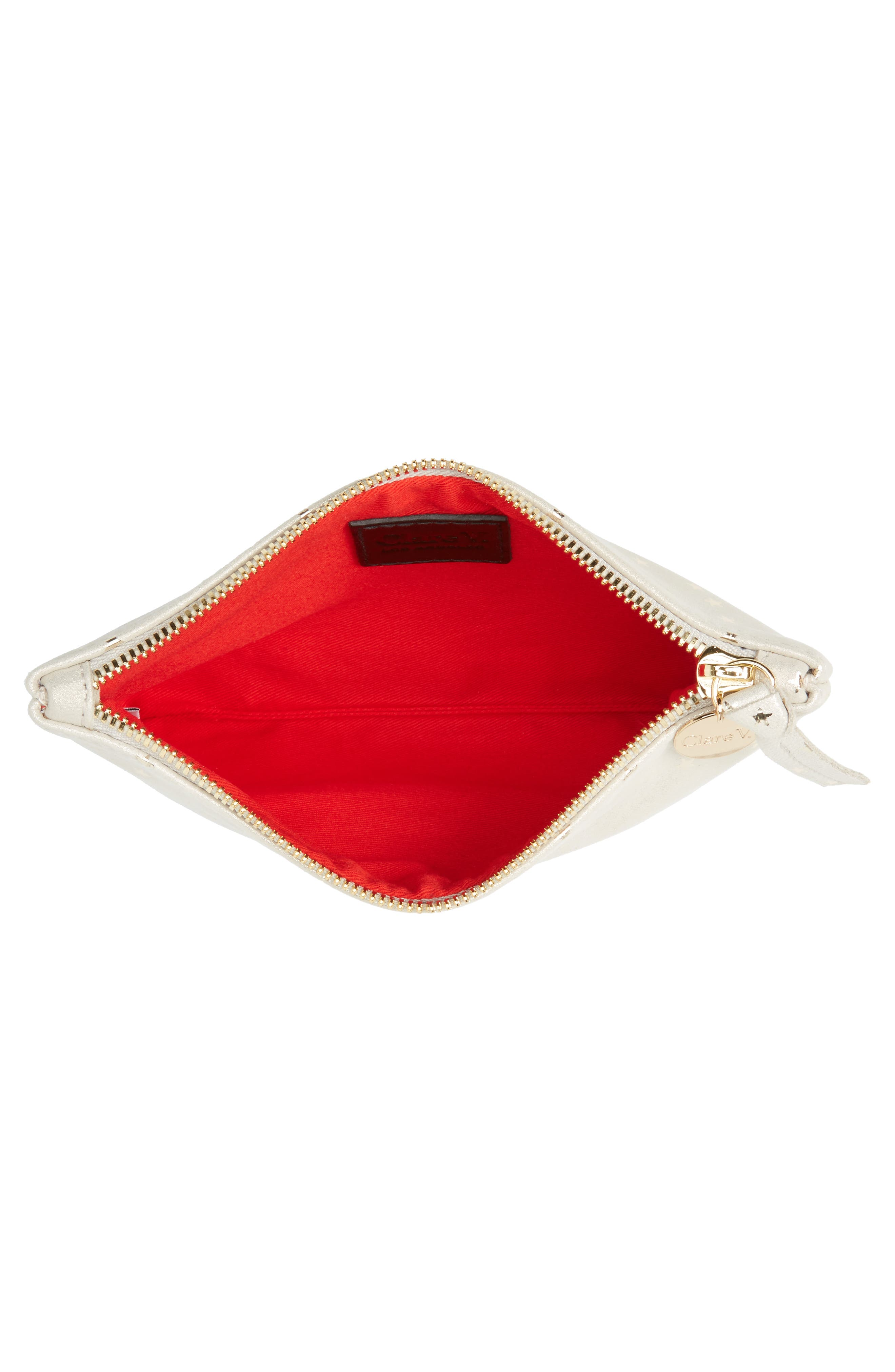 Supreme Star Shimmer Suede Wallet Clutch,                             Alternate thumbnail 4, color,                             900