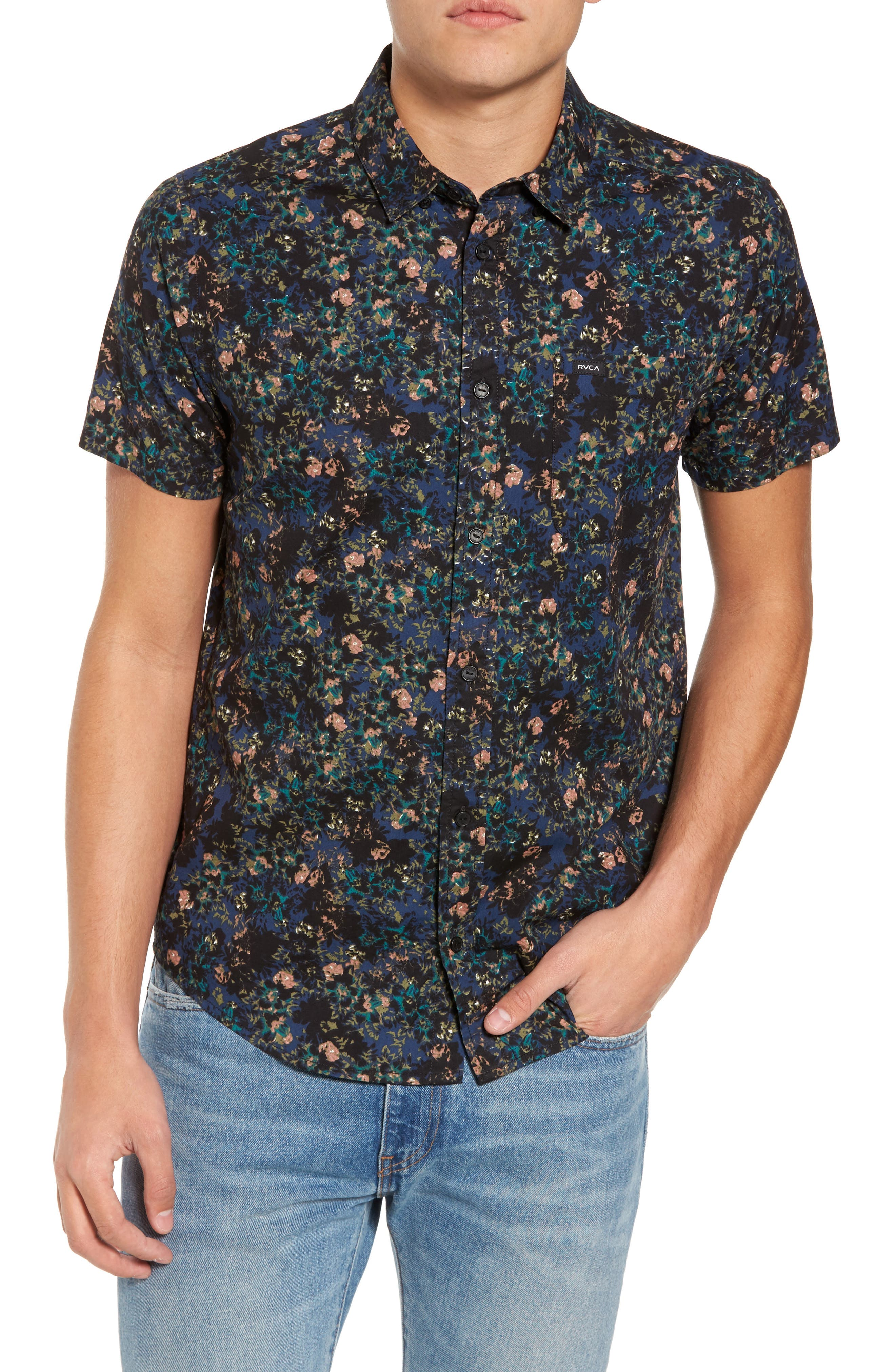 Control Woven Shirt,                             Main thumbnail 1, color,                             BLUE