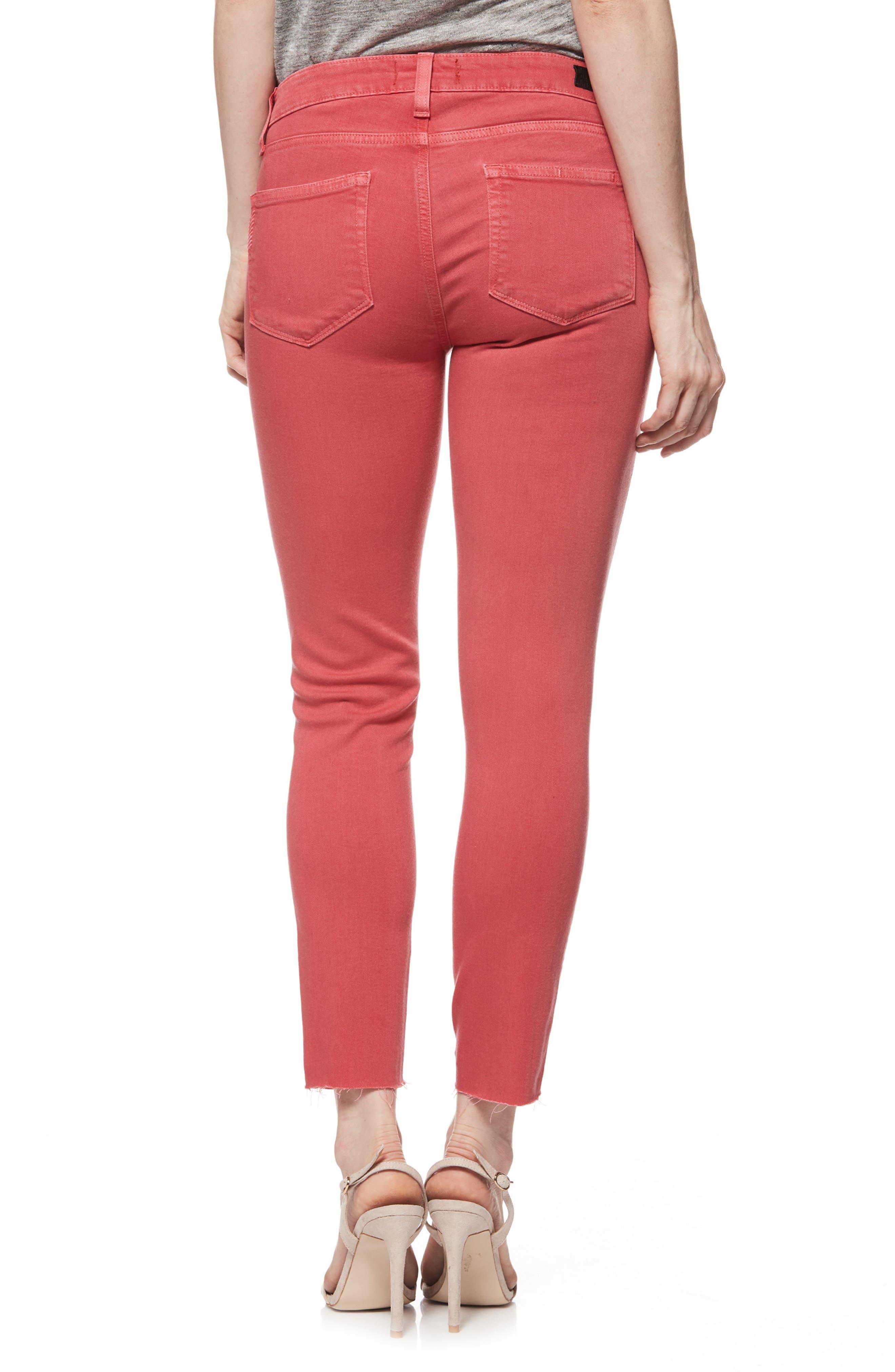 Transcend - Verdugo Raw Hem Crop Skinny Jeans,                             Alternate thumbnail 2, color,                             601