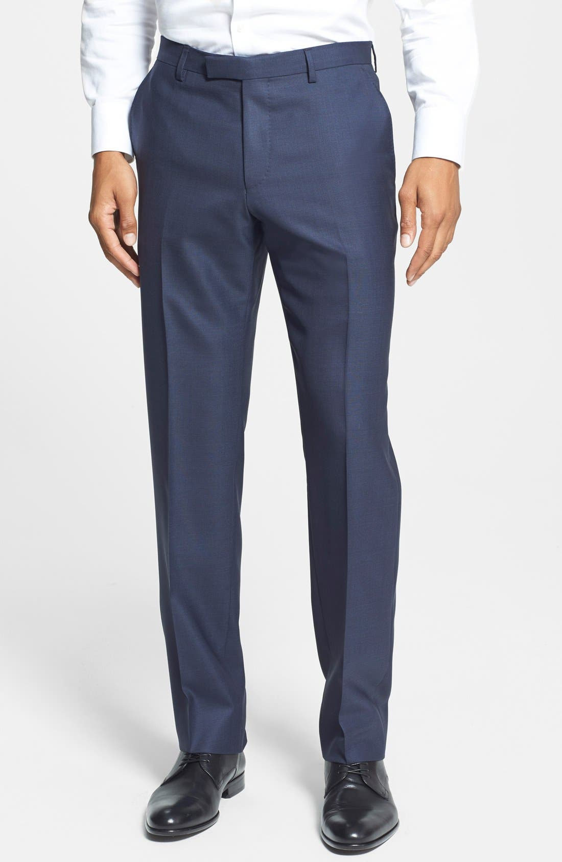 BOSS HUGO BOSS 'Johnstons/Lenon' Trim Fit Wool Suit,                             Alternate thumbnail 3, color,                             410