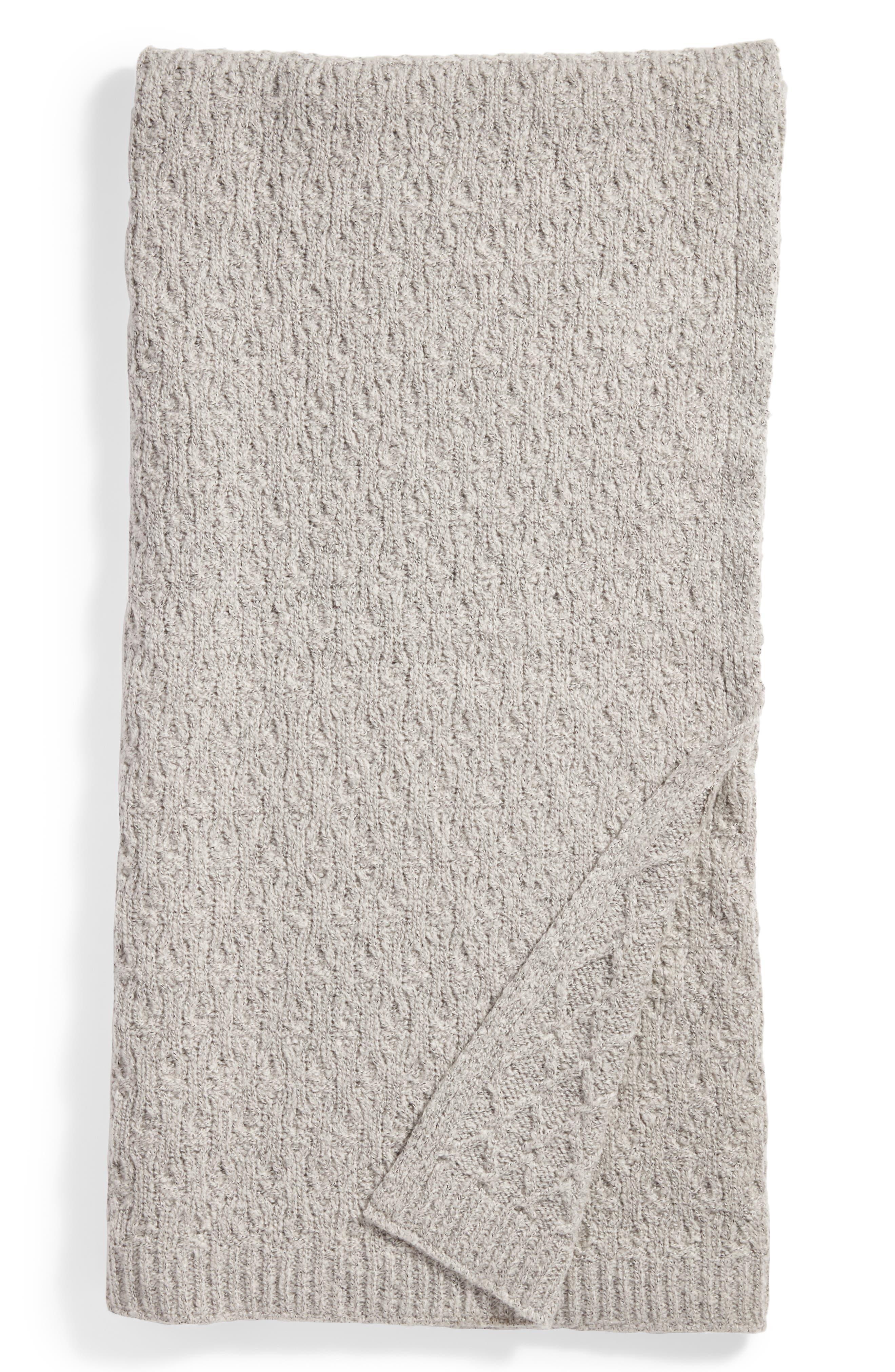 Diamond Knit Throw,                             Main thumbnail 1, color,                             020