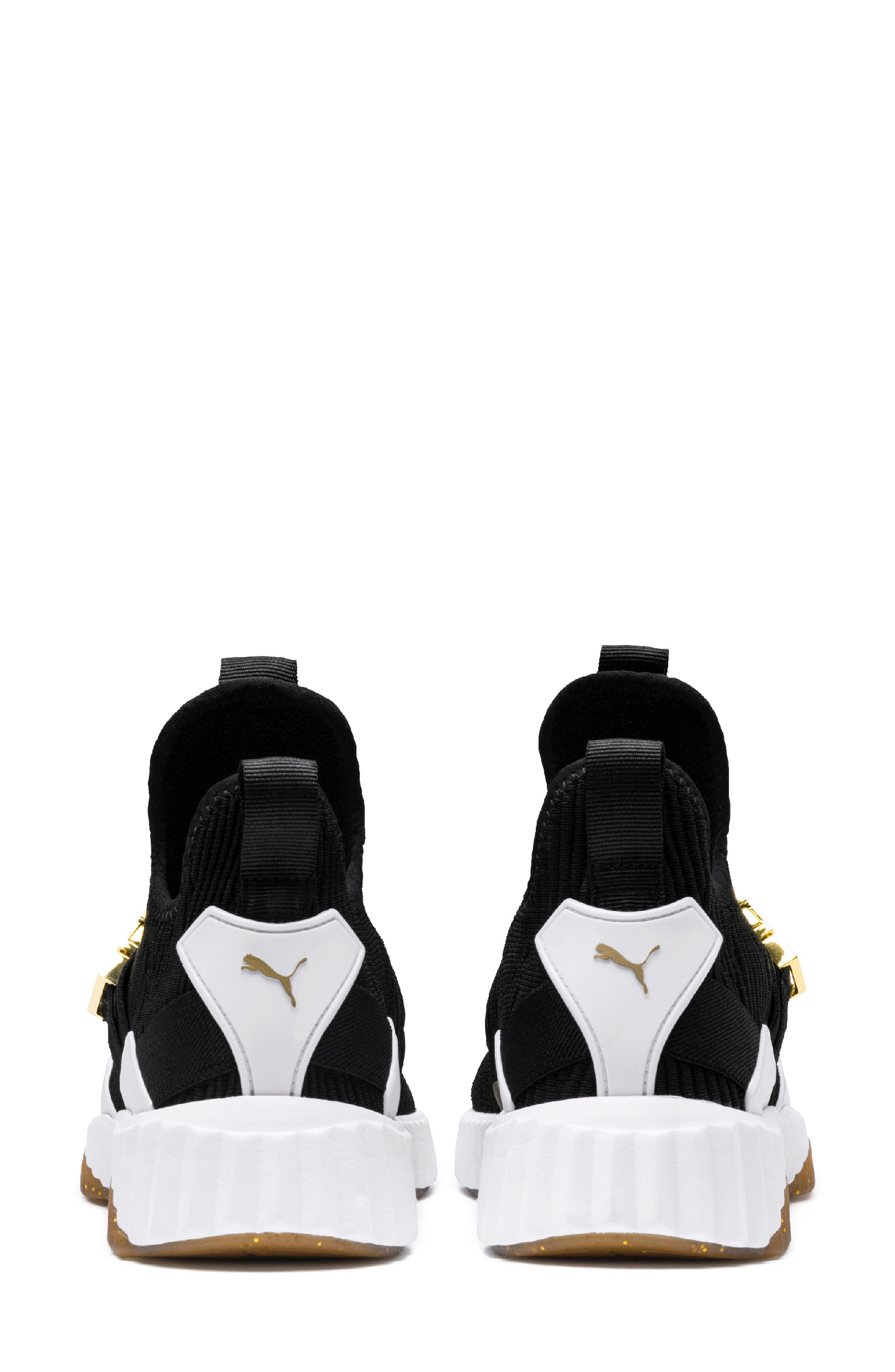 Defy Mid Varsity Sneaker,                             Alternate thumbnail 2, color,                             PUMA BLACK/ METALLIC GOLD