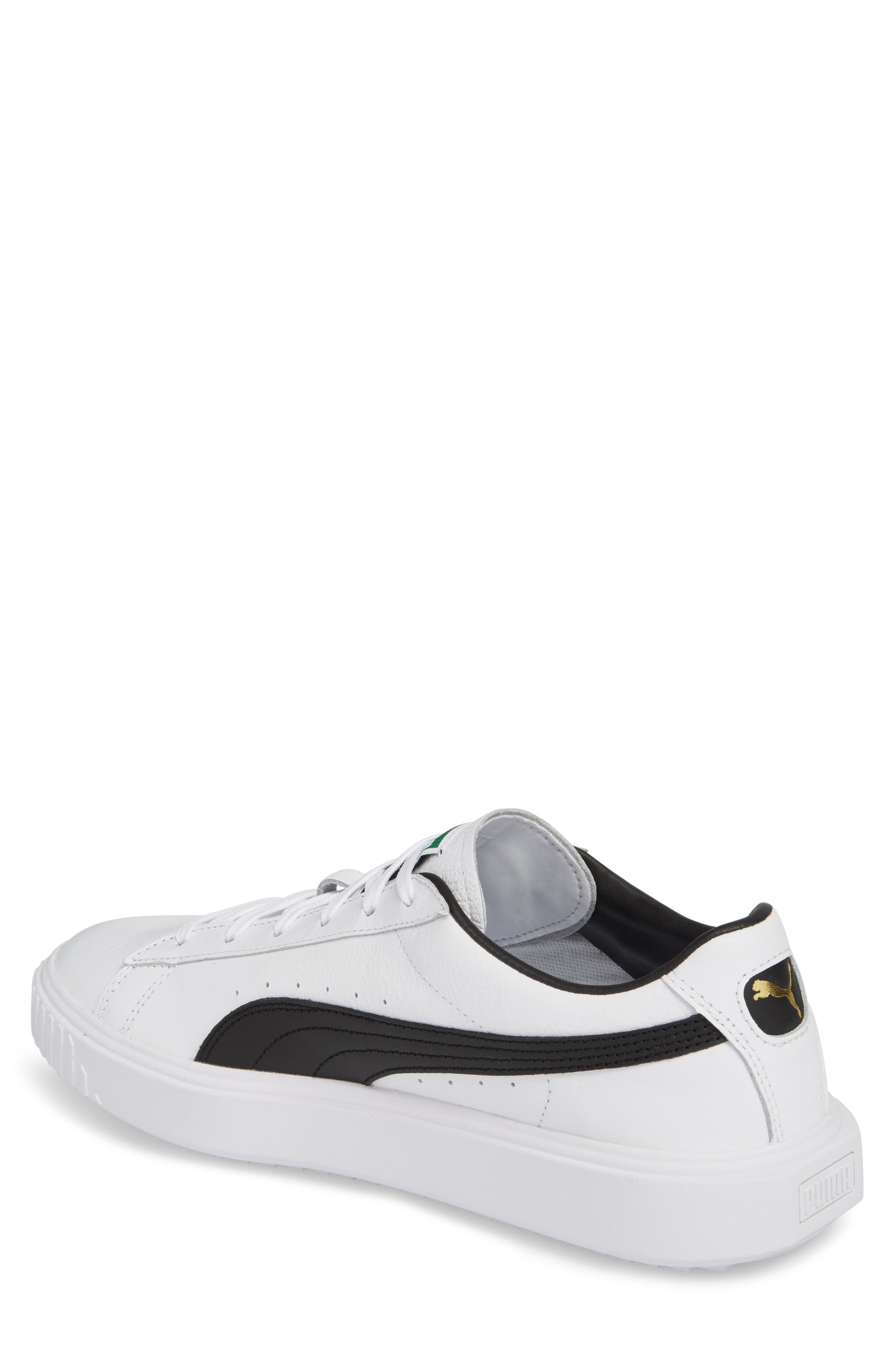 Breaker Low Top Sneaker,                             Alternate thumbnail 2, color,                             WHITE/ BLACK LEATHER