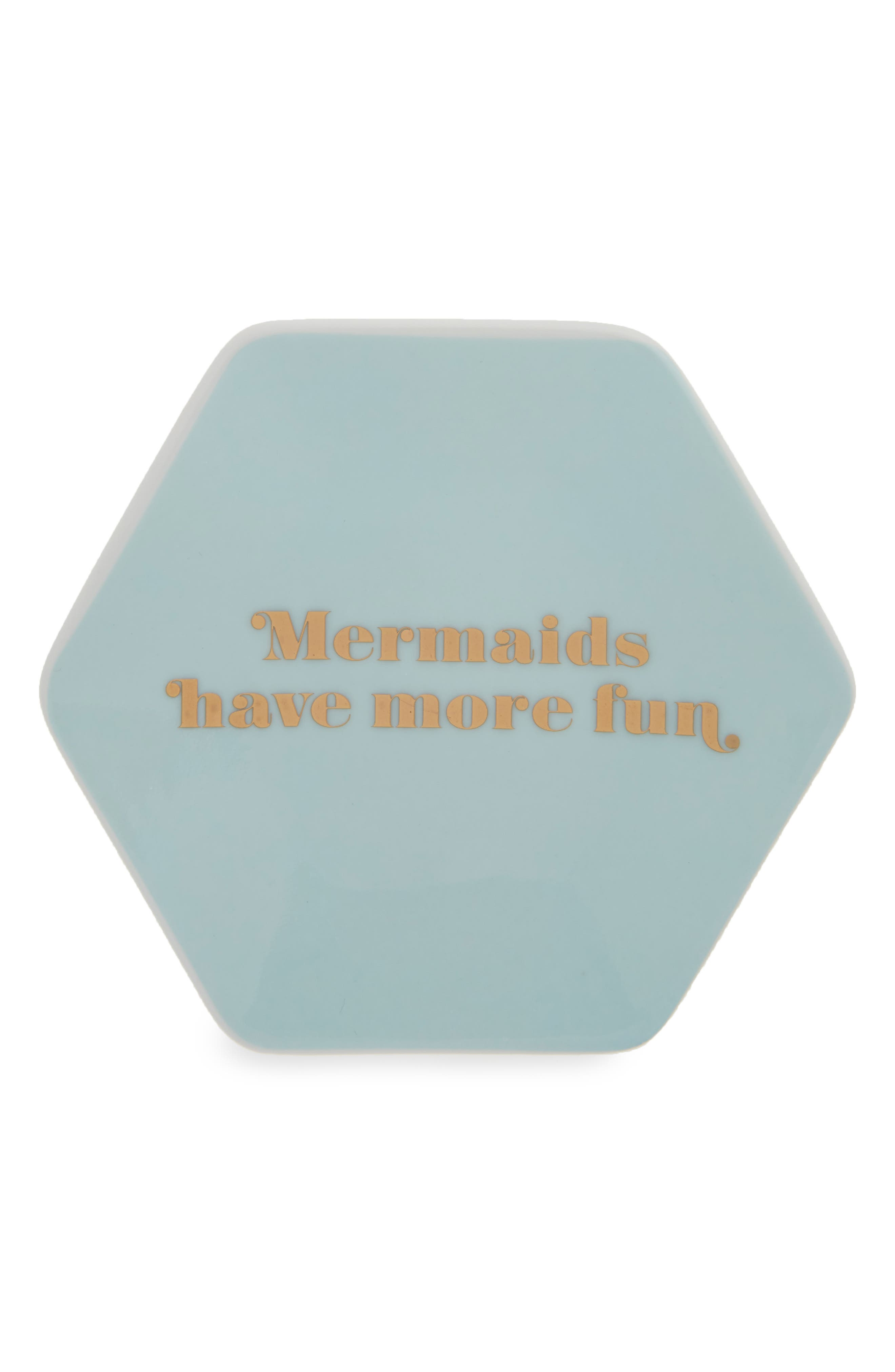 Mermaids Porcelain Trinket Tray,                         Main,                         color, 300