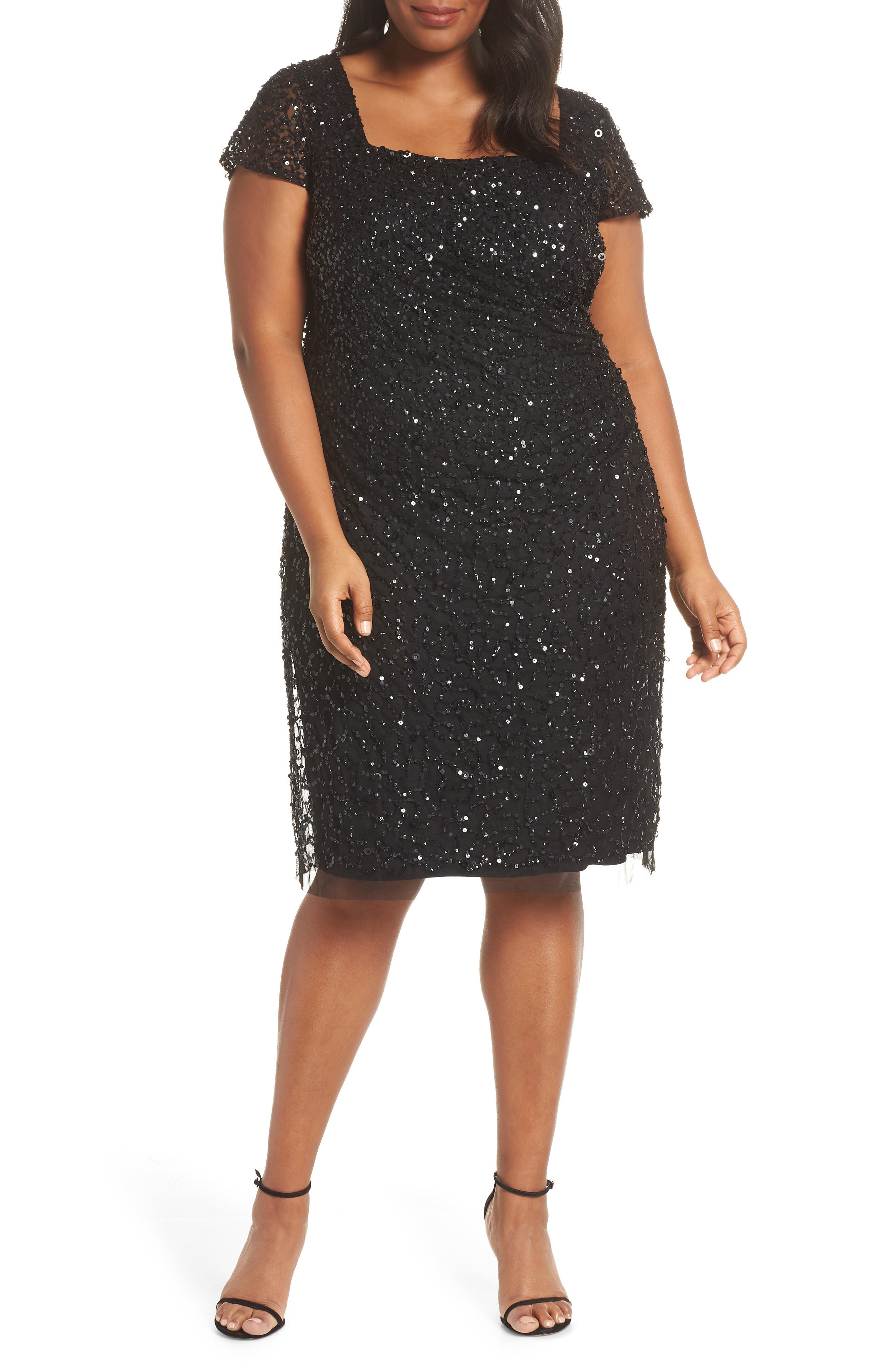 Plus Size Adrianna Papell Beaded Dress