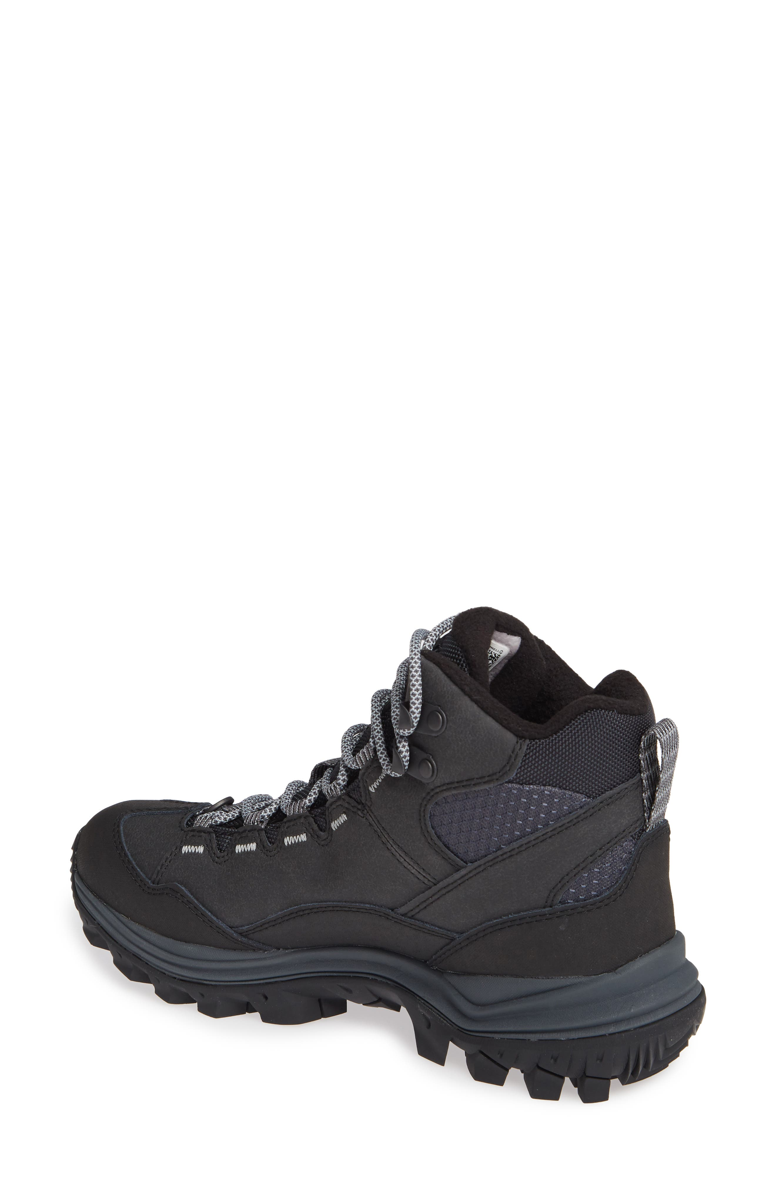 Thermo Chill Waterproof Snow Boot,                             Alternate thumbnail 2, color,                             BLACK LEATHER