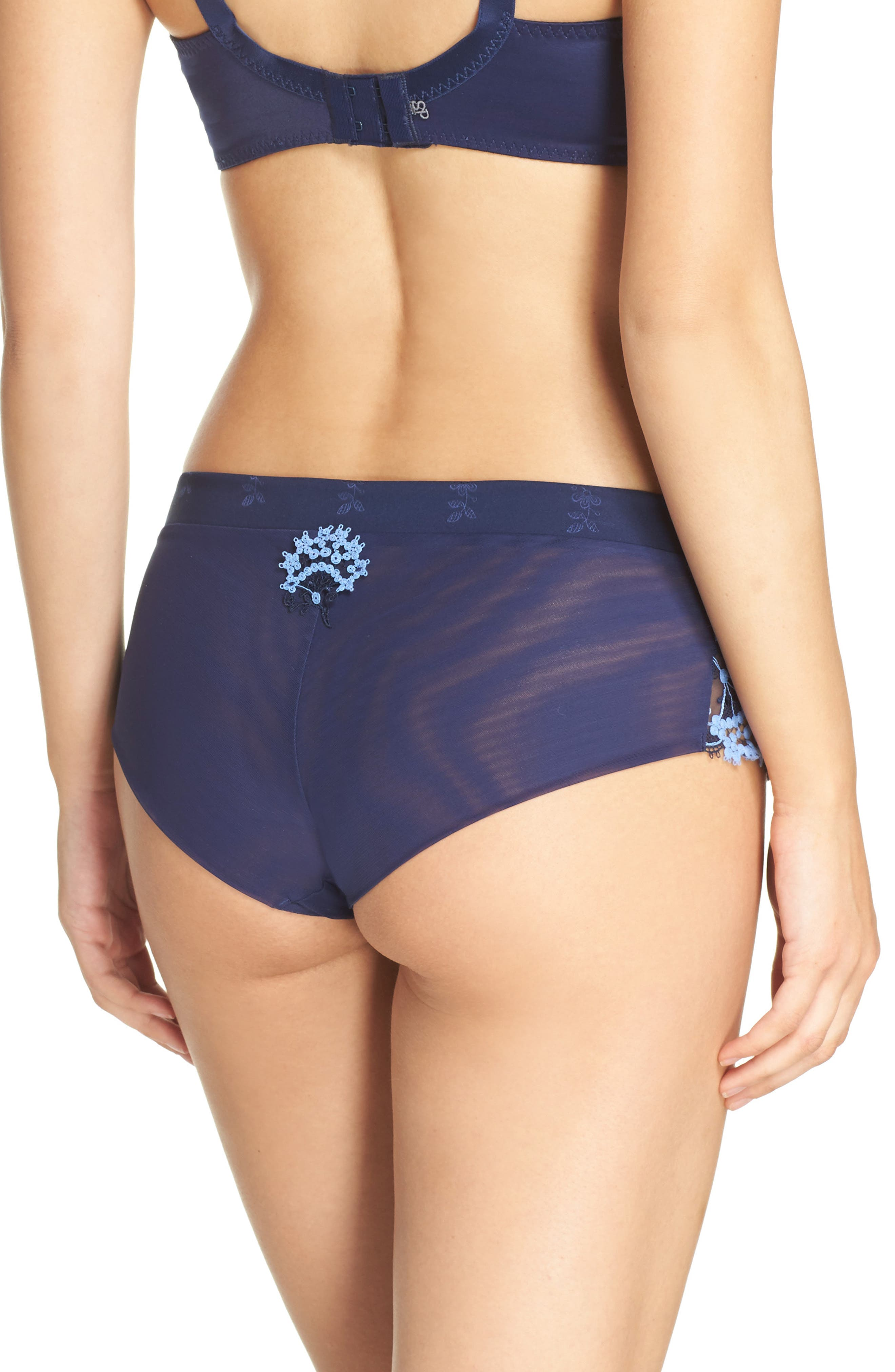 'Wish' Embroidered Boyshorts,                             Alternate thumbnail 7, color,