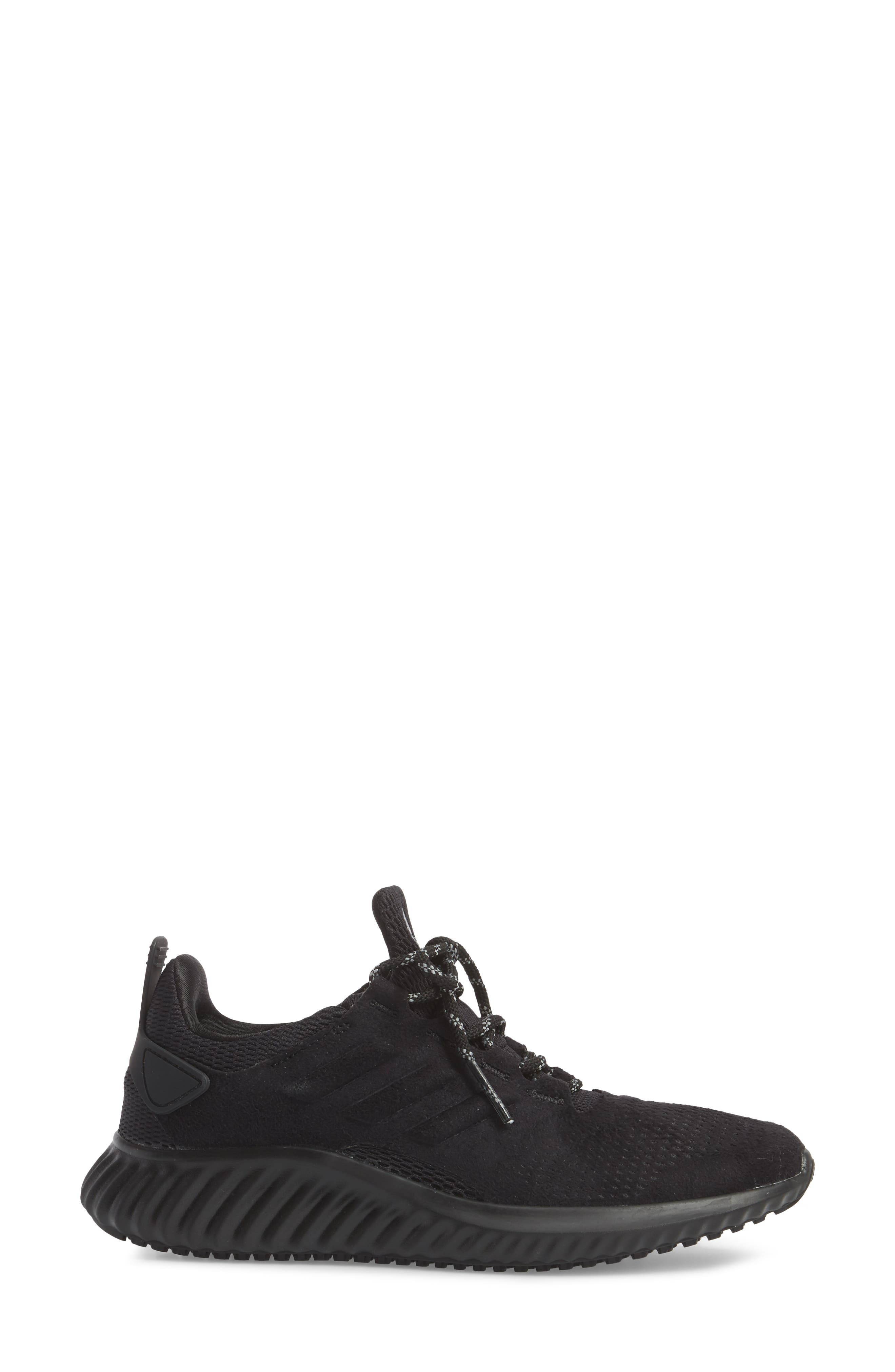AlphaBounce CR Running Shoe,                             Alternate thumbnail 3, color,                             CORE BLACK/ CORE BLACK