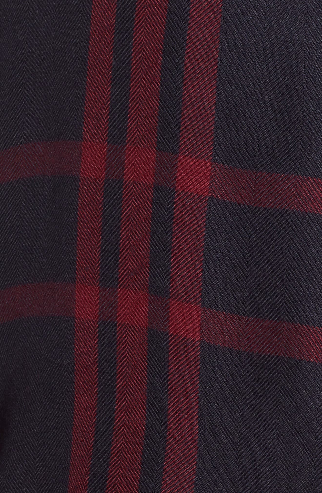Short Pajamas,                             Alternate thumbnail 5, color,                             BLACK CHERRY