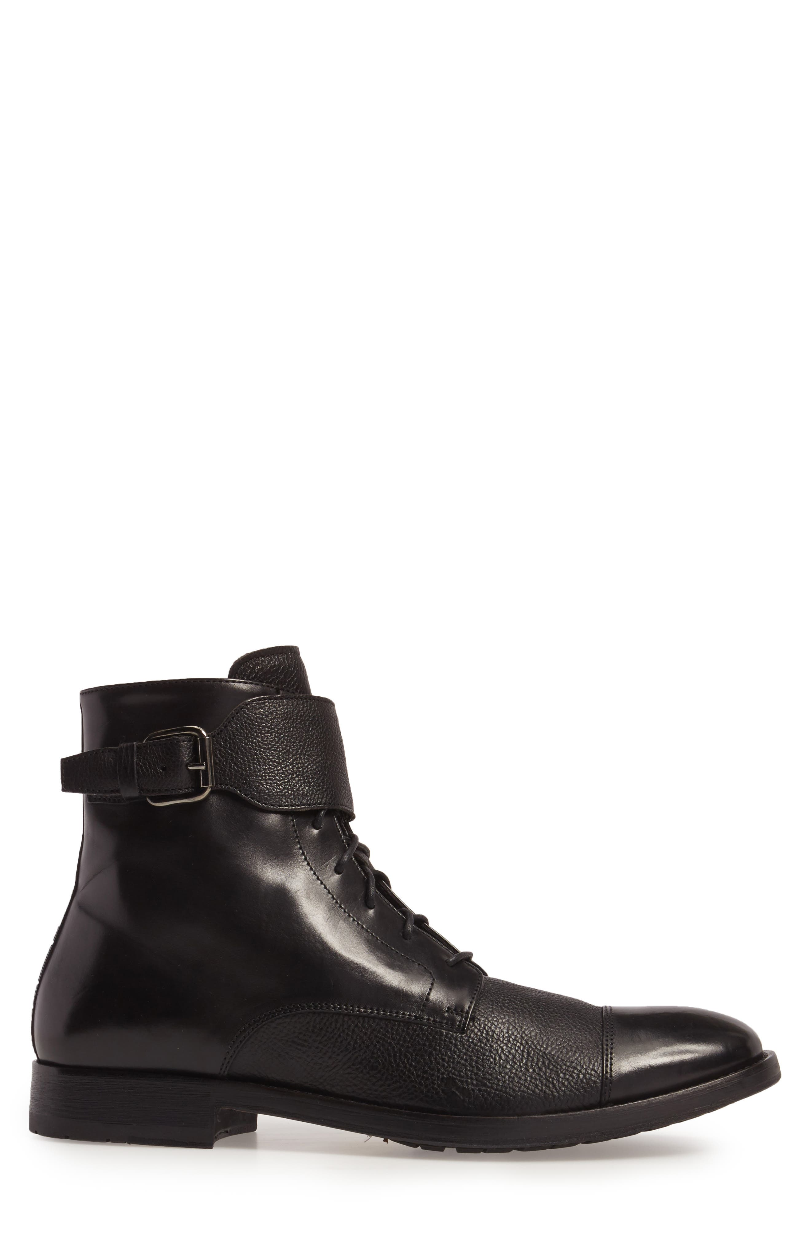 Flyboy Cap Toe Boot,                             Alternate thumbnail 3, color,                             001