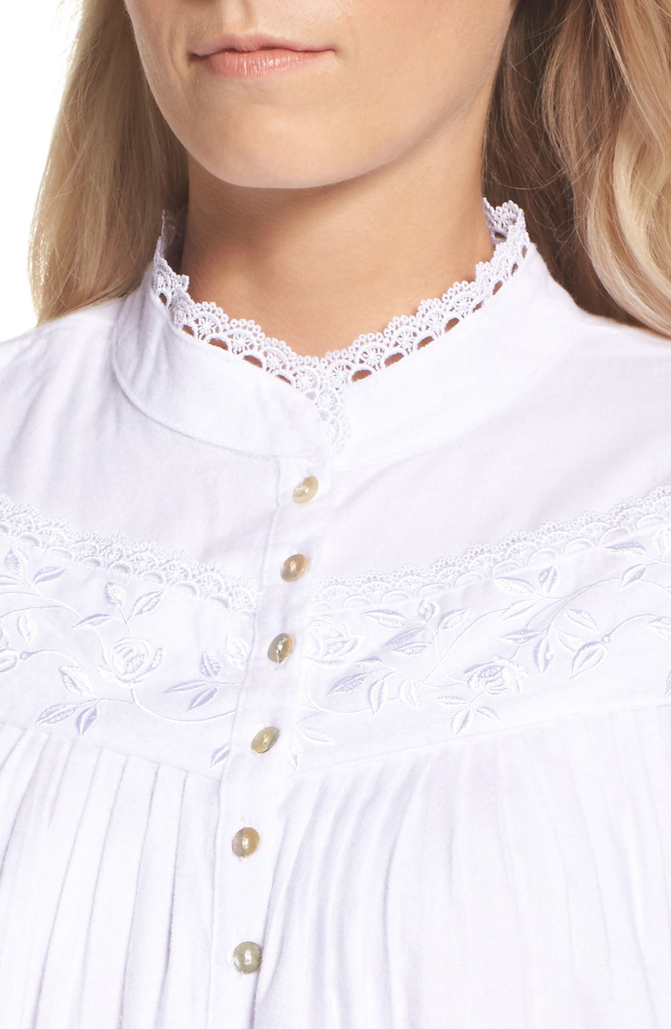 High Neck Cotton Nightgown,                             Alternate thumbnail 4, color,