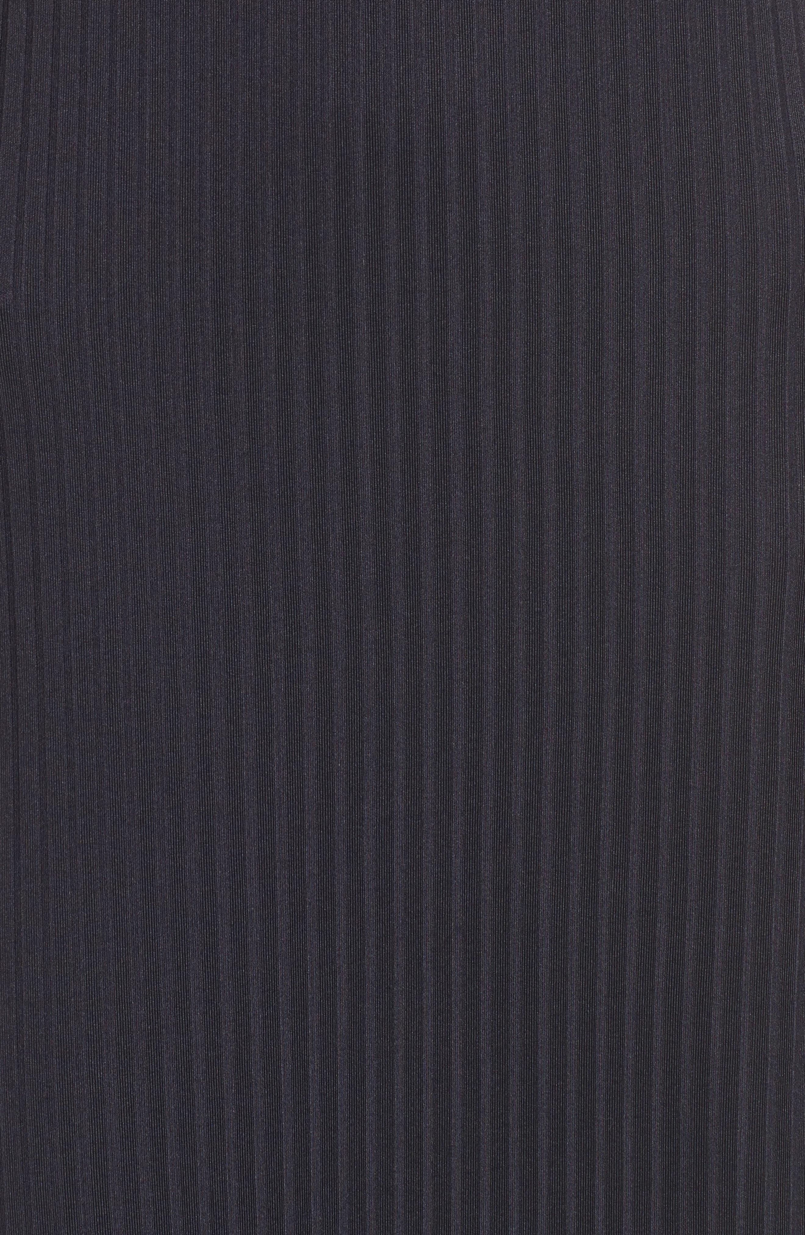 Ashlynn Ribbed Maxi Dress,                             Alternate thumbnail 5, color,                             NAVY