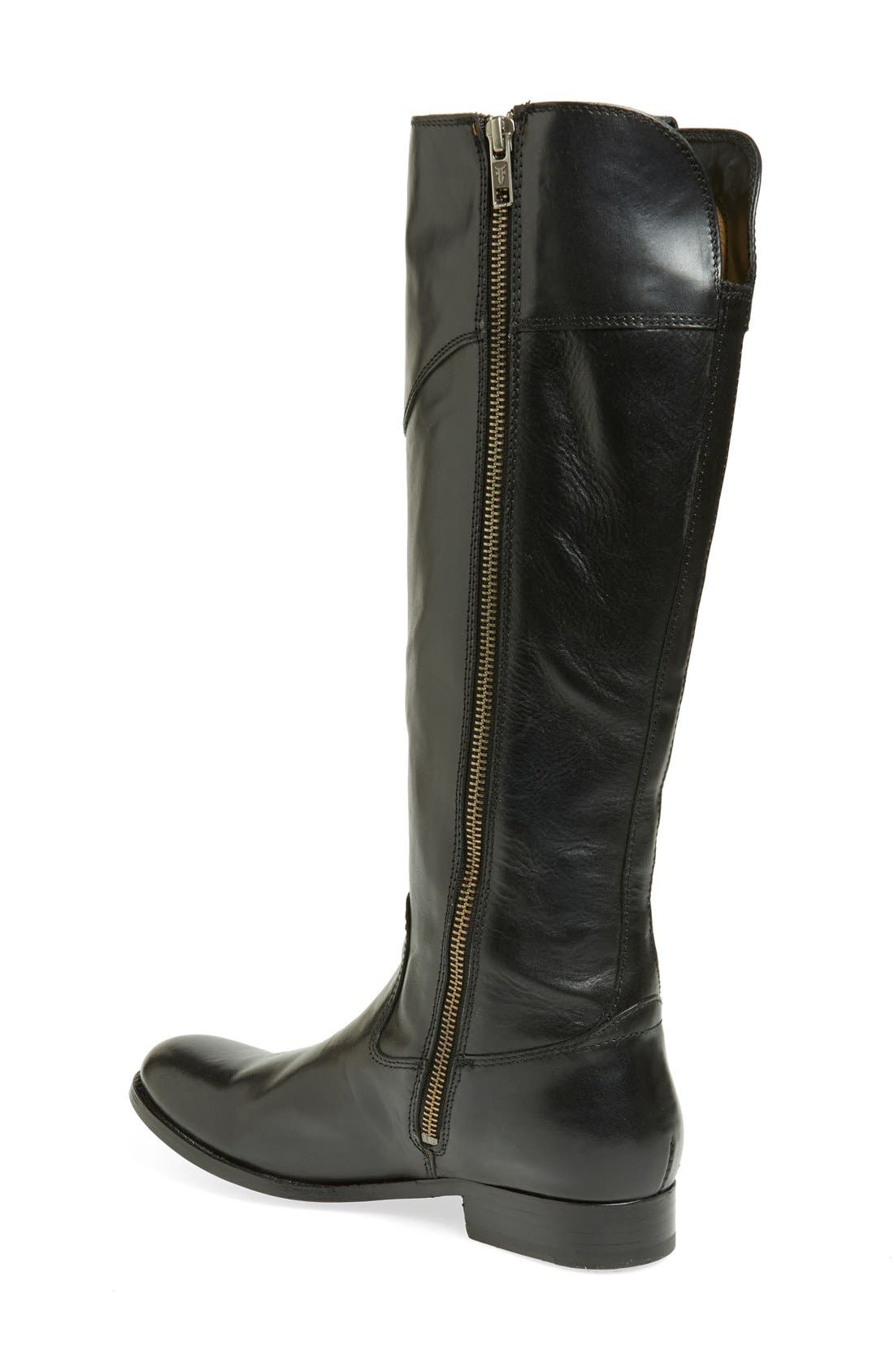 'Melissa Tab' Knee High Boot,                             Main thumbnail 1, color,                             001