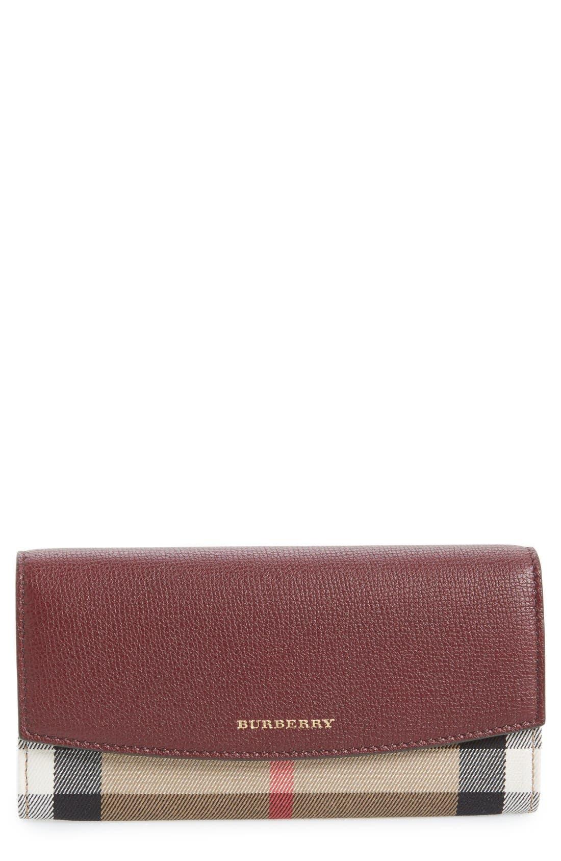 'Porter - Check' Continental Wallet,                         Main,                         color,