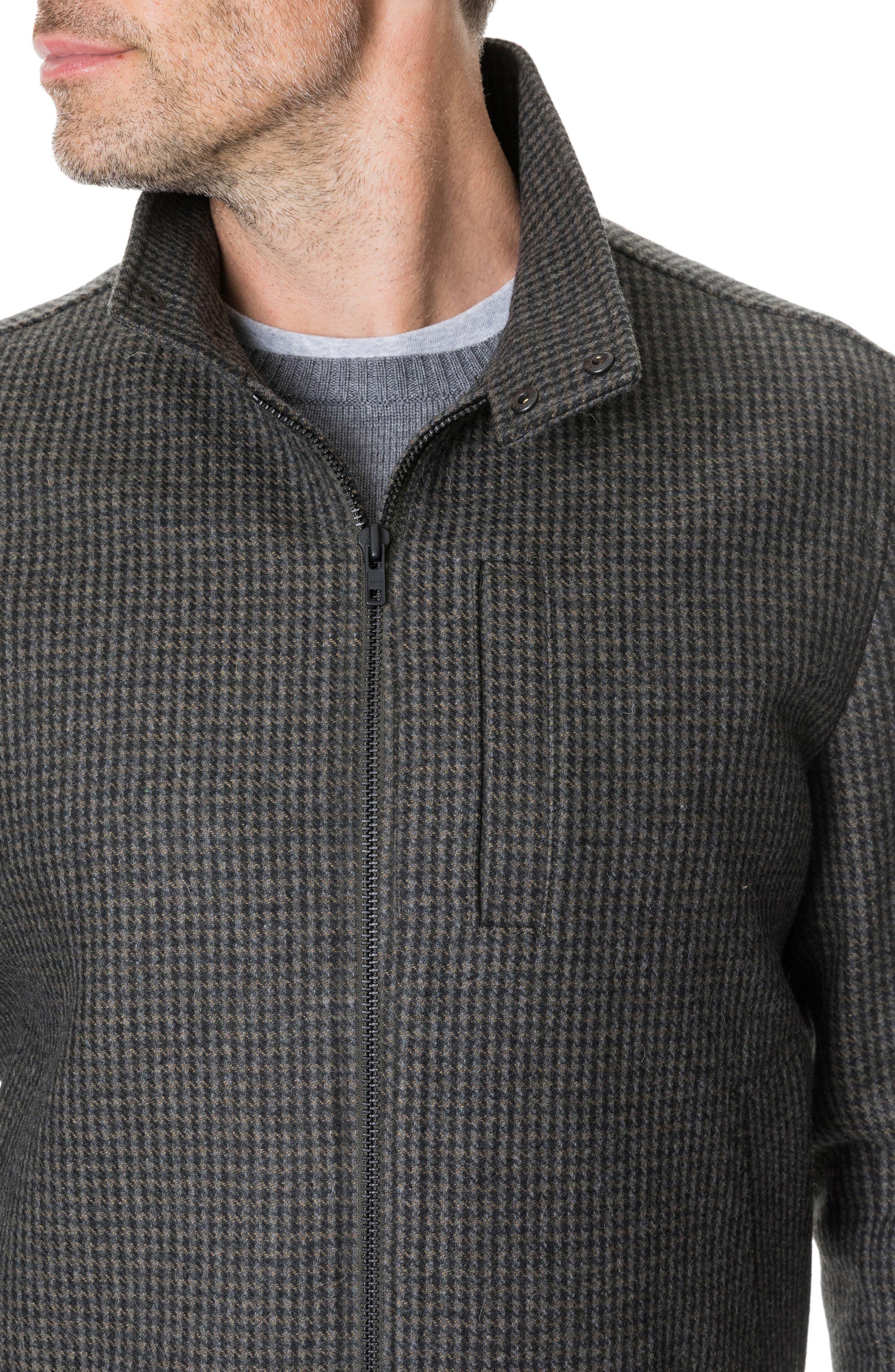 Oyster Cove Regular Fit Wool Blend Jacket,                             Alternate thumbnail 4, color,                             OLIVE