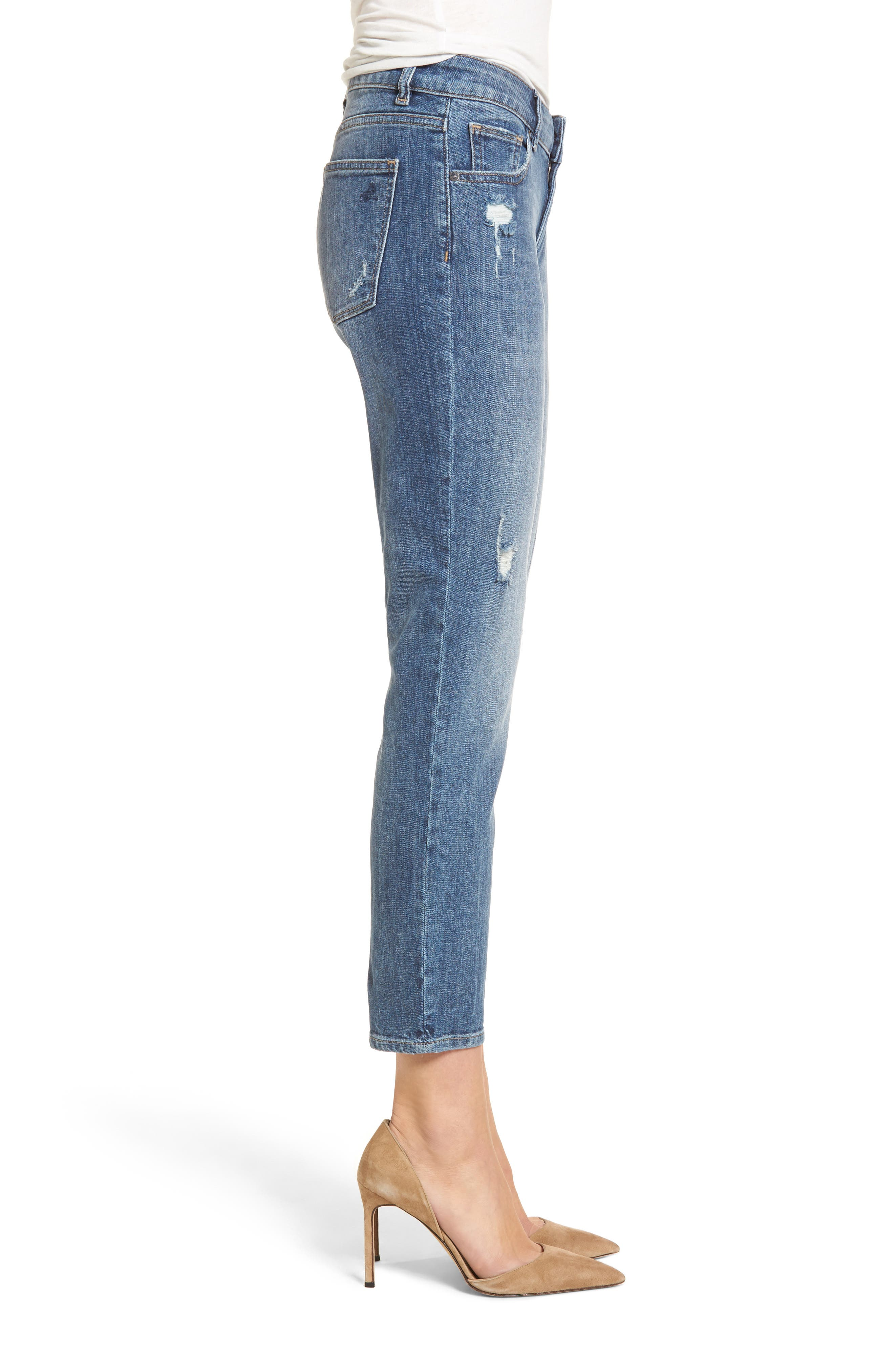Davis Ankle Girlfriend Jeans,                             Alternate thumbnail 3, color,                             425