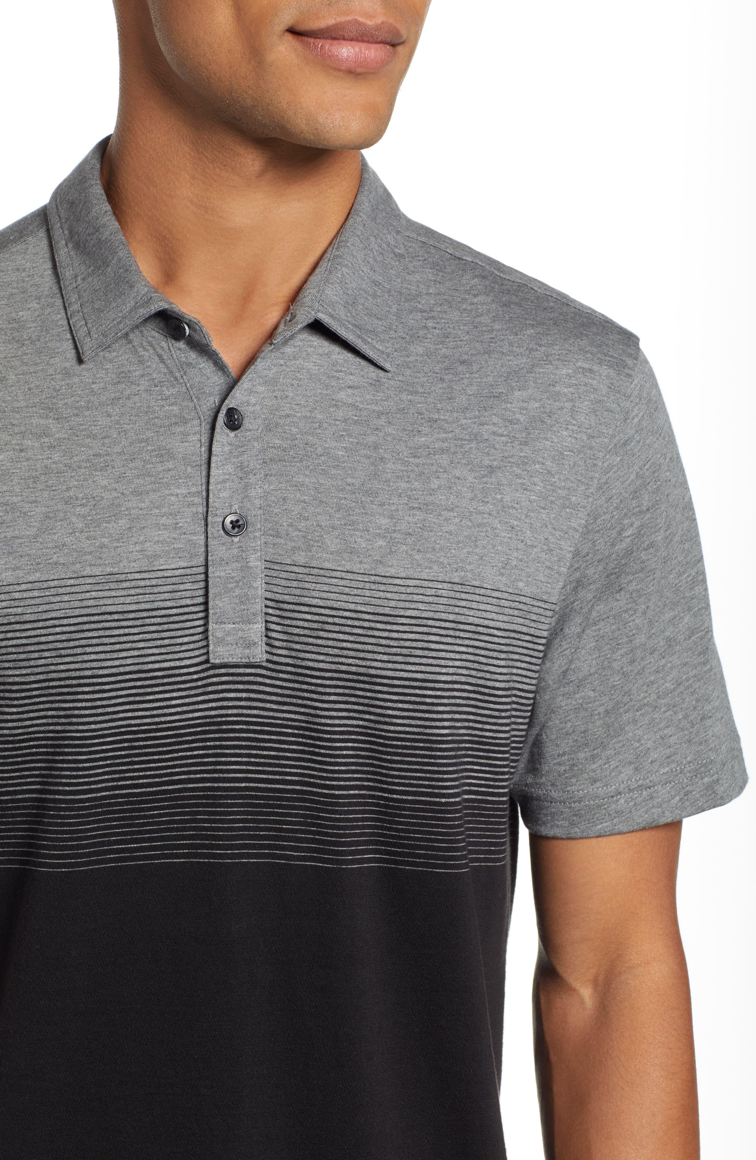 Smoothie Machine Short Sleeve Regular Fit Polo Shirt,                             Alternate thumbnail 4, color,                             BLACK