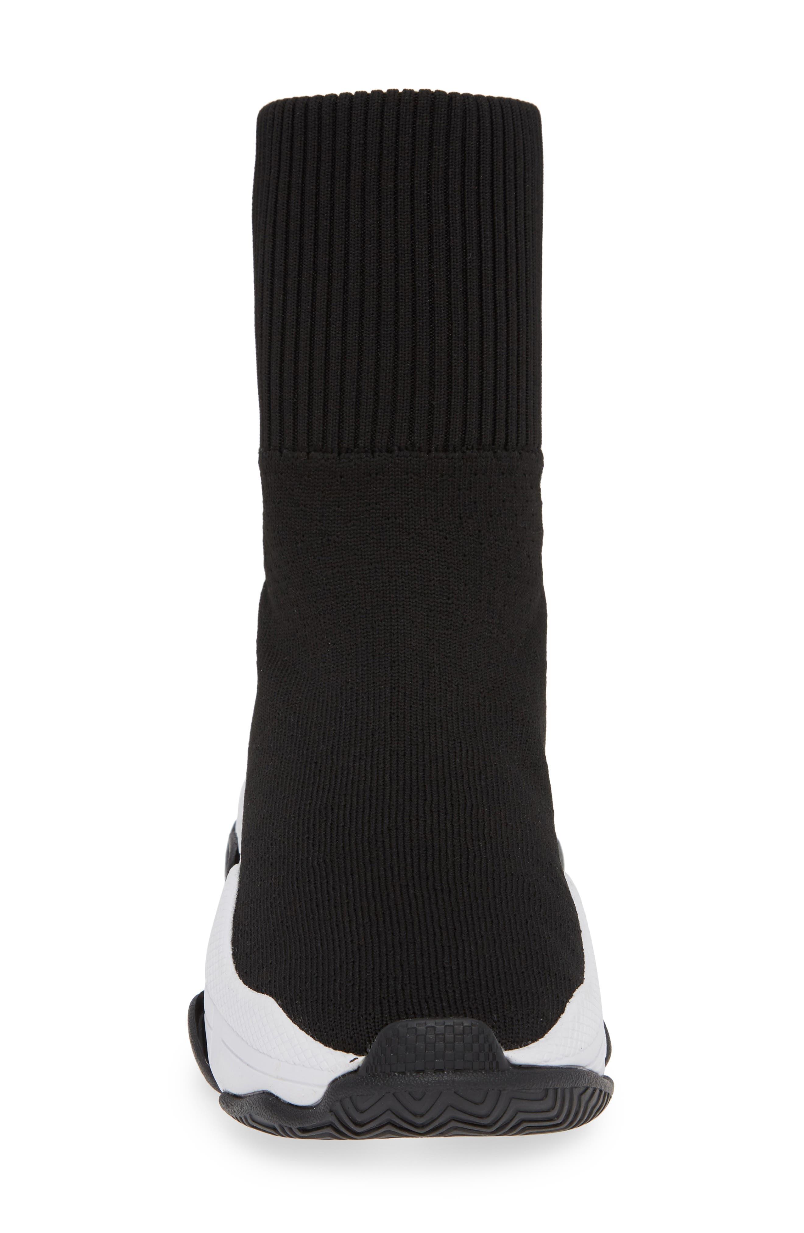 Tenko Ankle High Top Sock Sneaker,                             Alternate thumbnail 4, color,                             BLACK