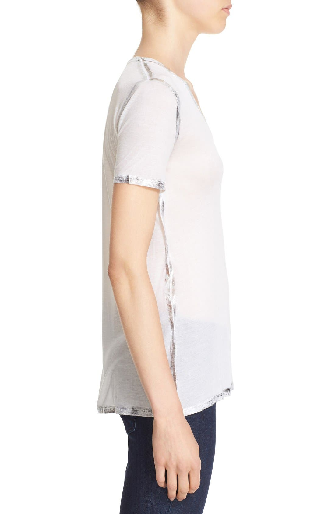 ZADIG & VOLTAIRE,                             'Tino' Foil Accent Tee,                             Alternate thumbnail 2, color,                             116